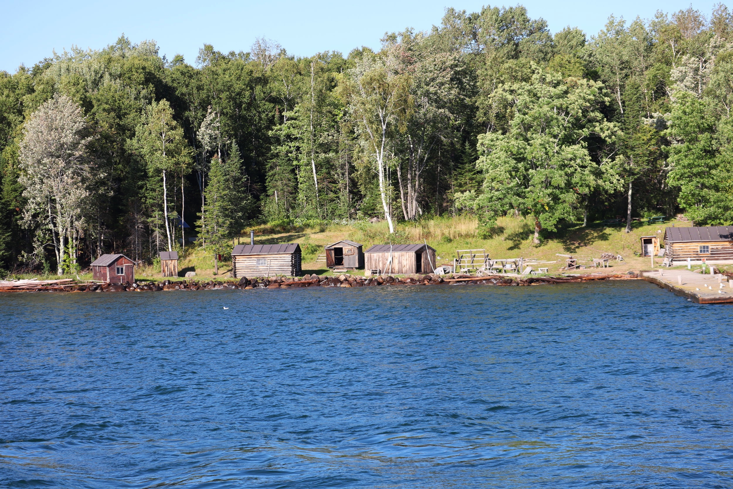 A fishing camp restored from the early 1900's.