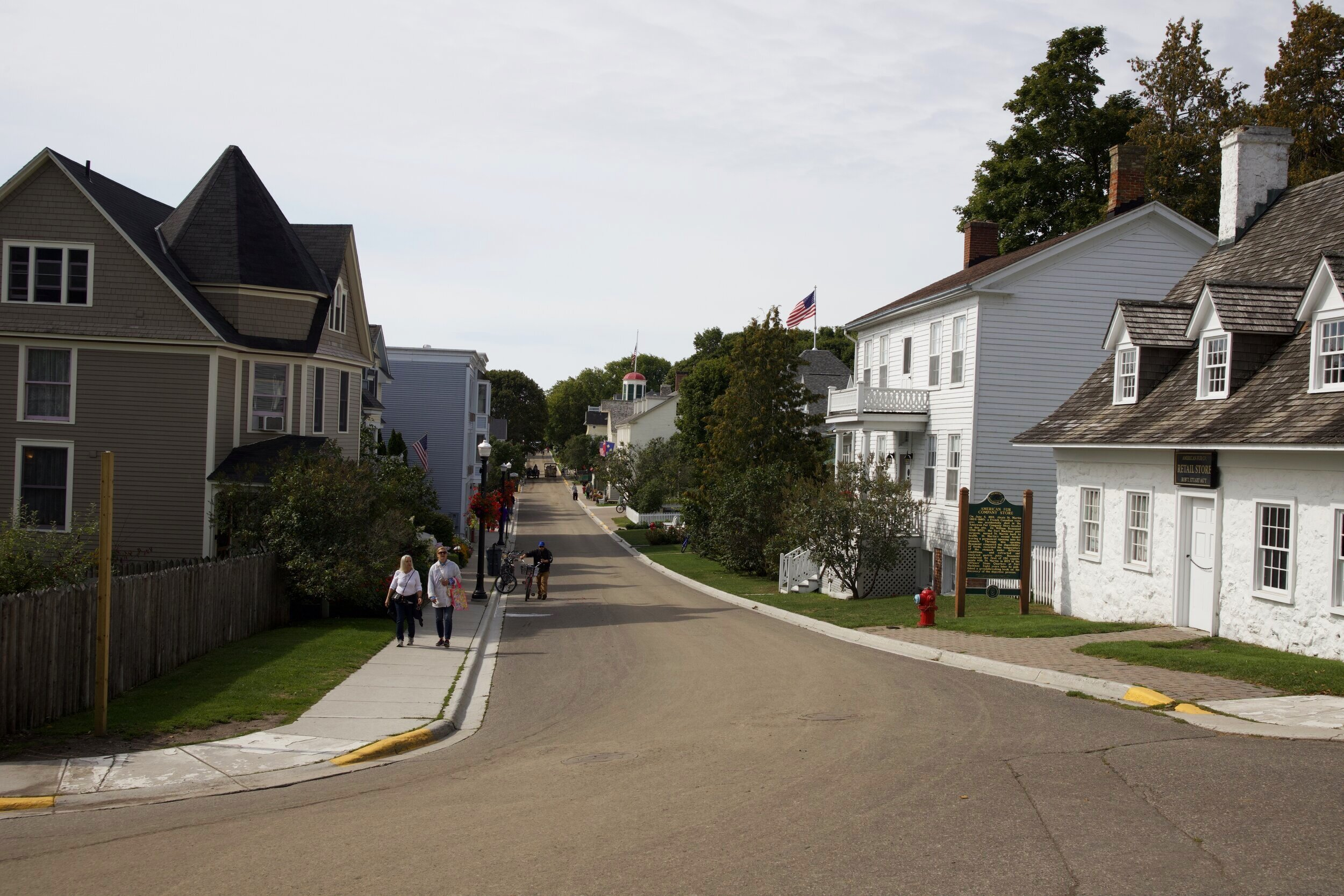 This is a shot down Market Street. The oldest buildings on the island are located here with some of them dating back to the 1780's.