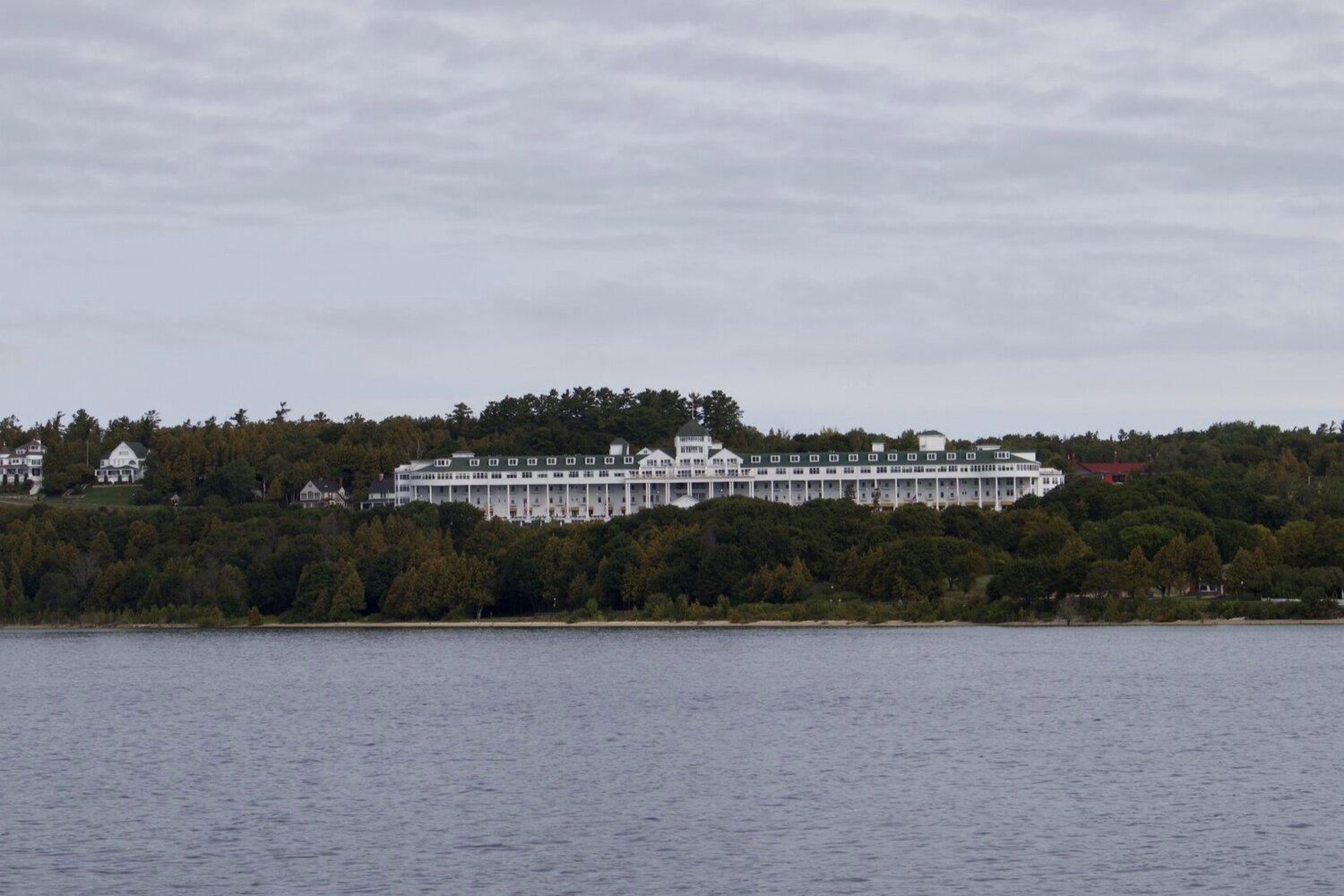 The Grand Hotel from Lake Huron. The movie Somewhere in Time staring Jane Seymour and Christopher Reeve was filmed at the hotel in 1980.