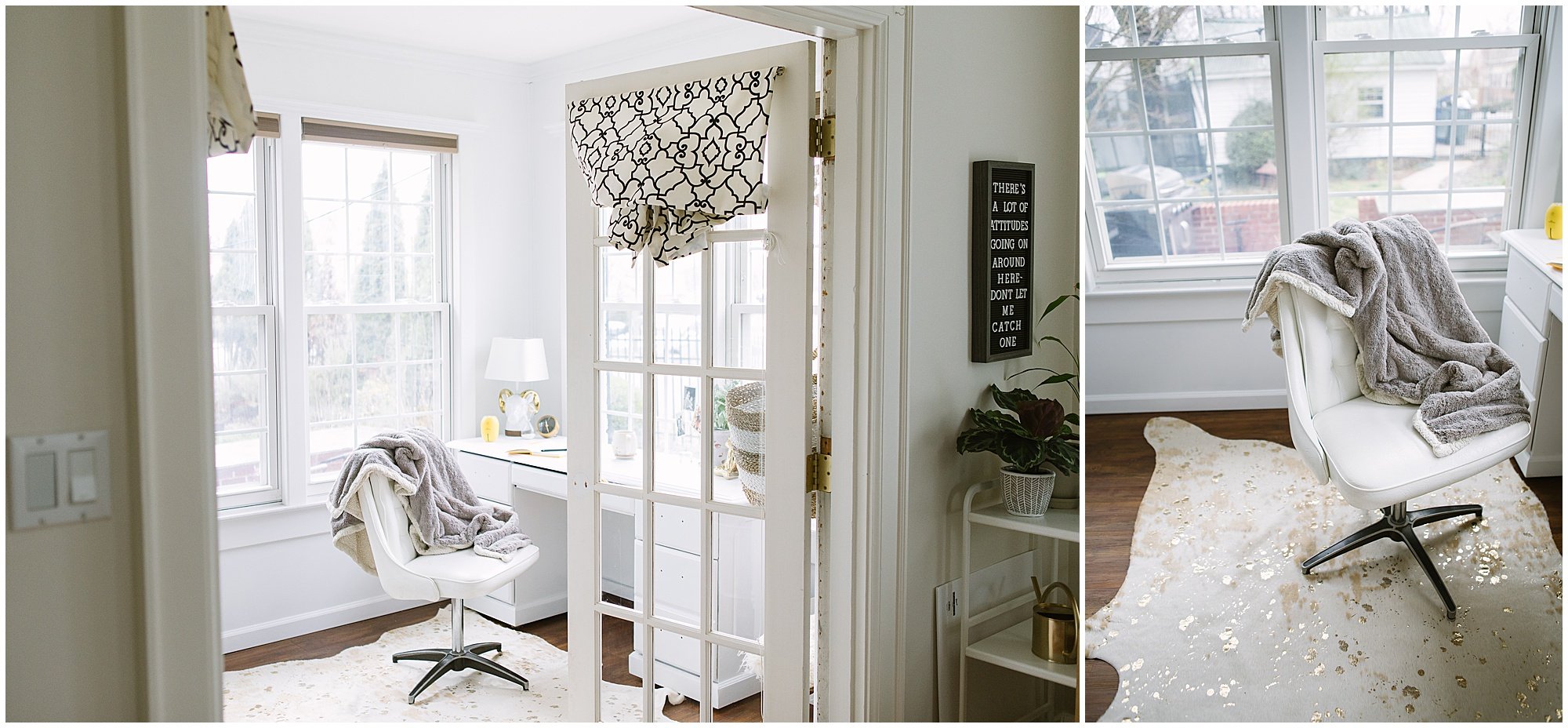 light bright and airy home office