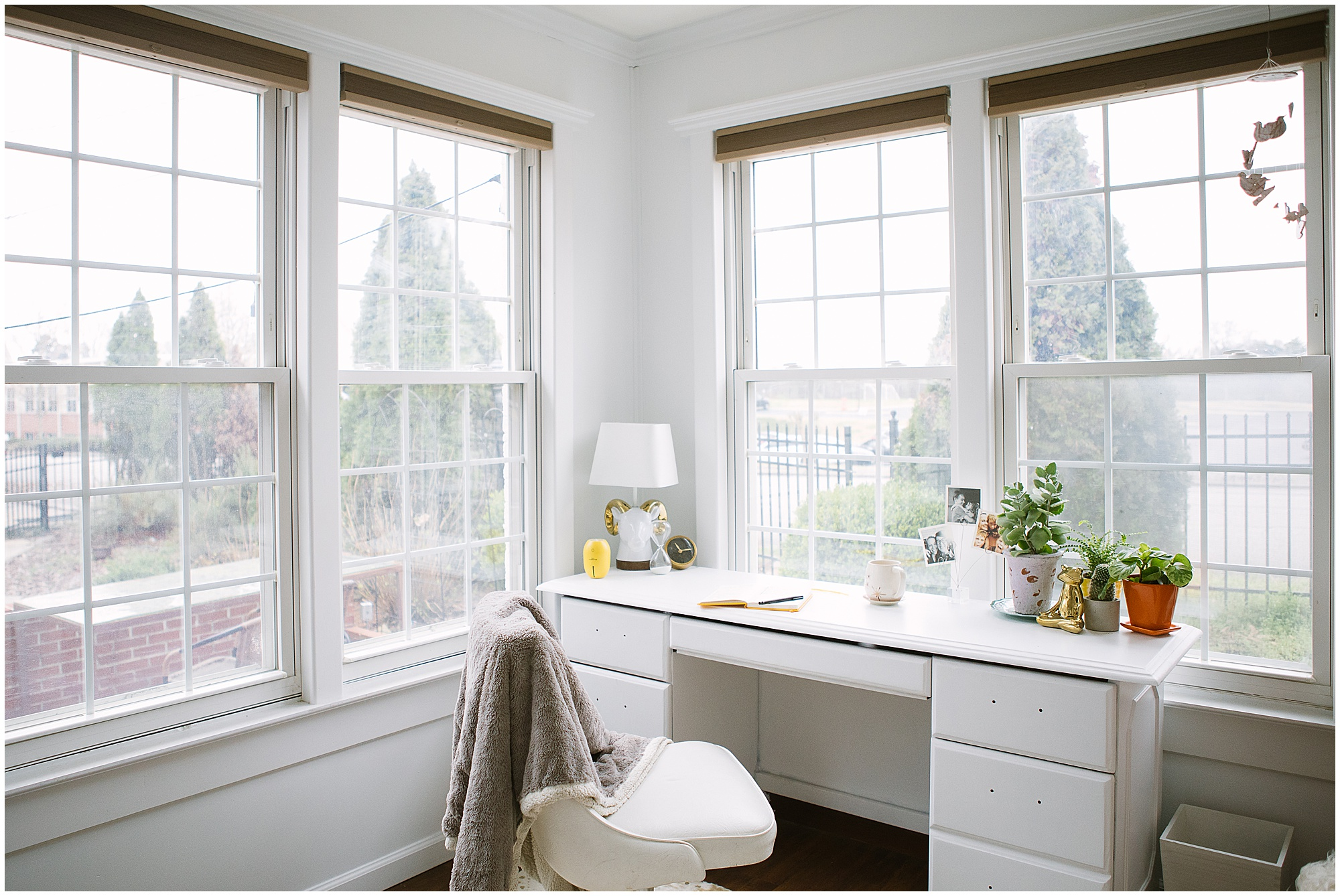 Light, bright, and airy home office