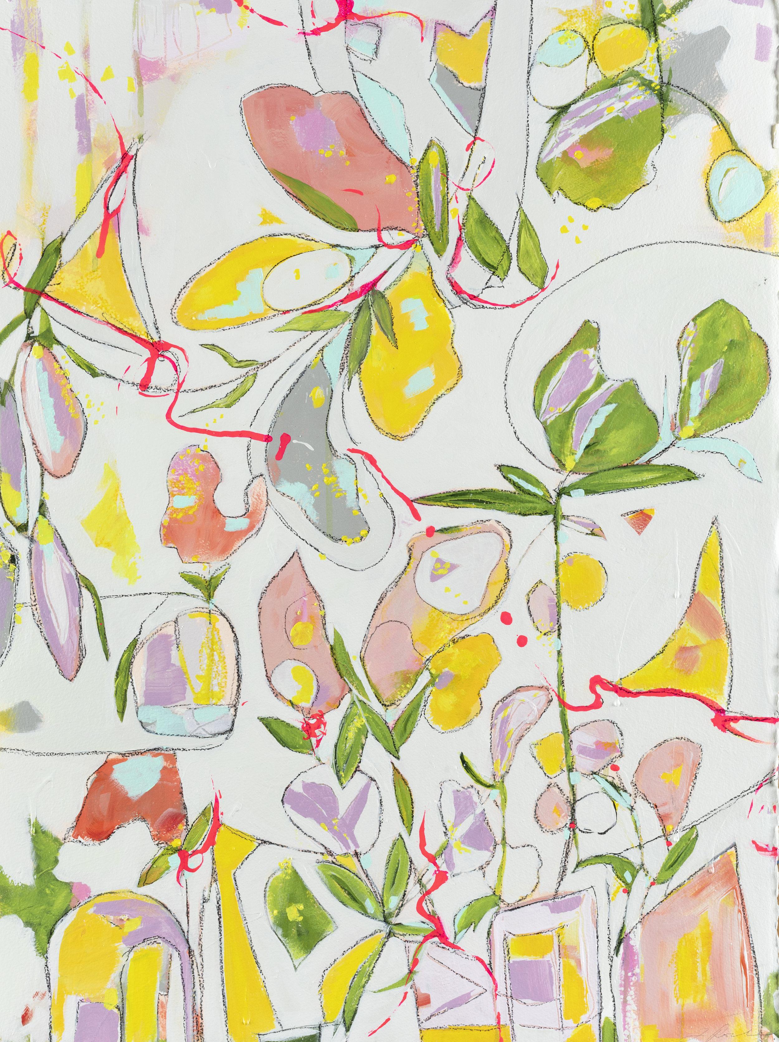"Mischief in the Garden, 33"" x 25"", available - Miller Gallery Charleston"