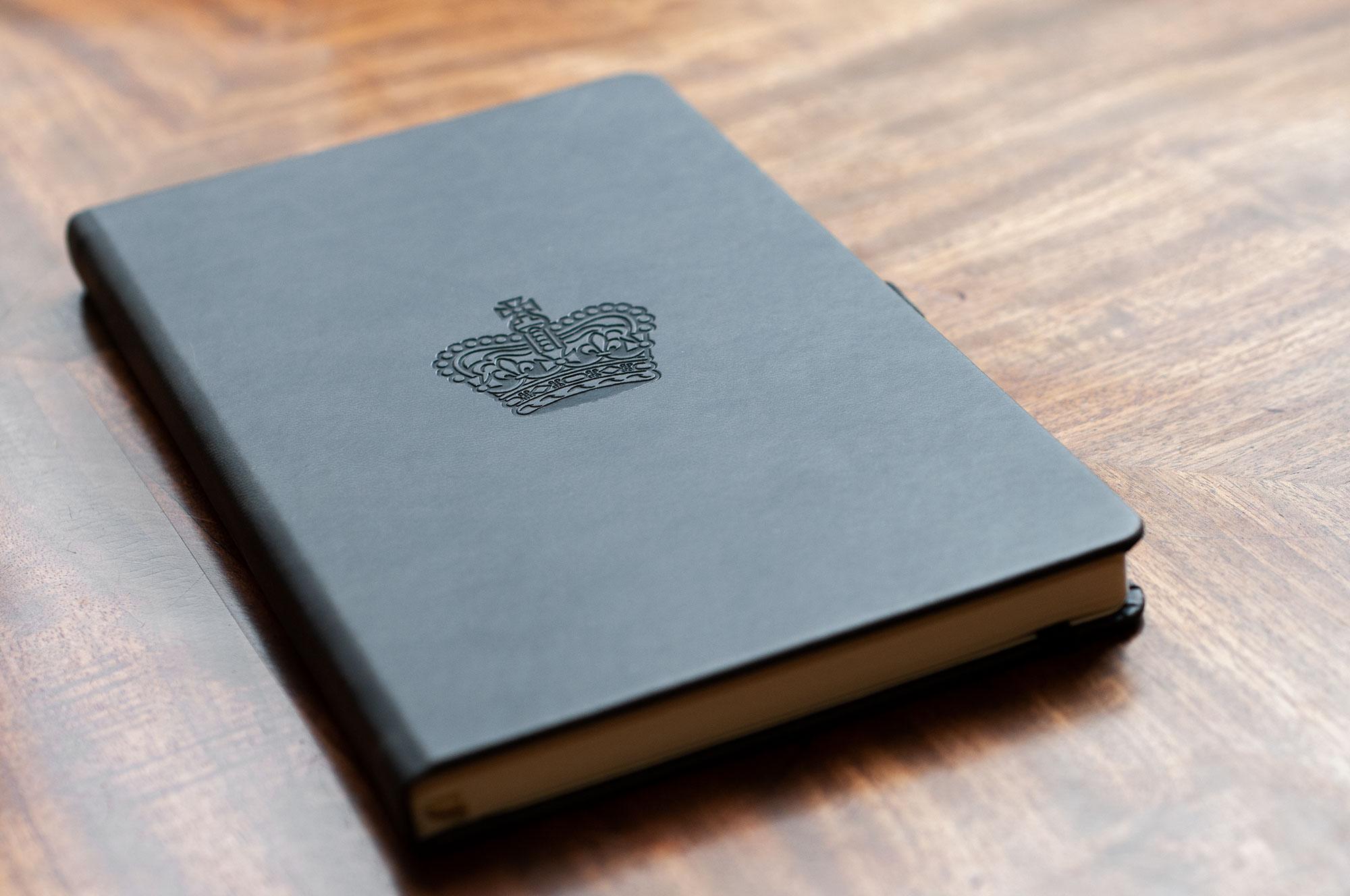 Embossed notebooks - simple crest