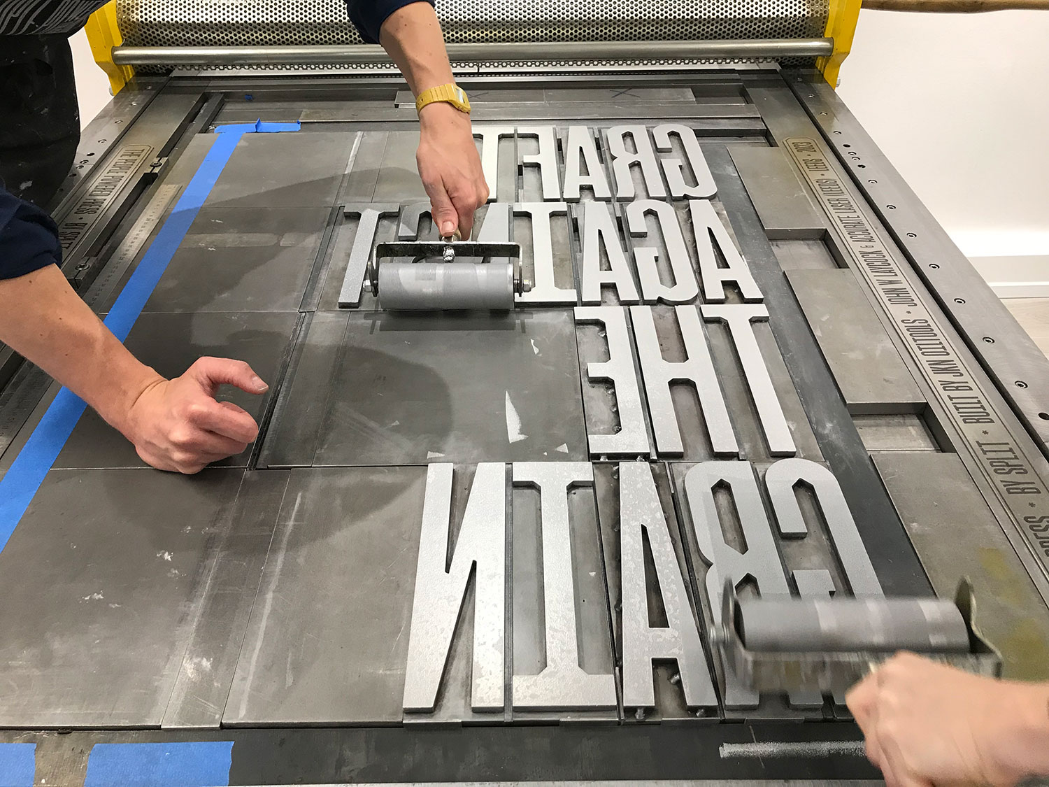 Inking the press