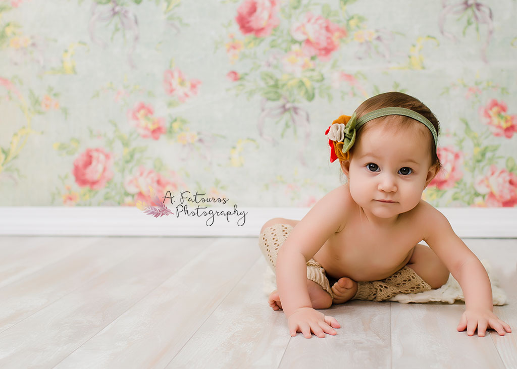 Floral headband provided by  Sweet Mimi Studio