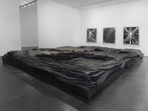 """Tara Donovan, """"Transplanted"""" (2001/2018), tar paper, (image courtesy the artist and Pace Gallery)"""