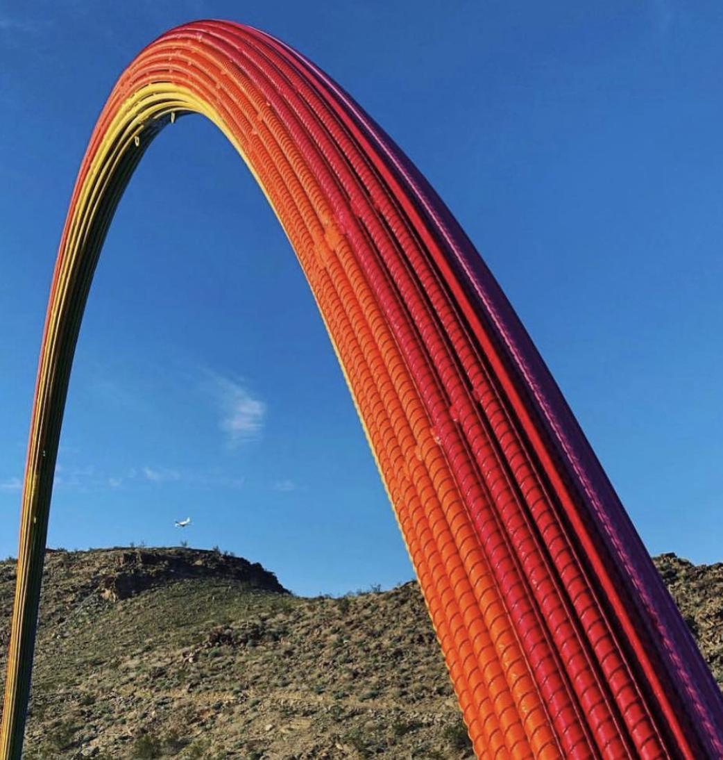 Lover's rainbow, by Pia Camil, courtesy of  Alexandra Lippin's Instagram