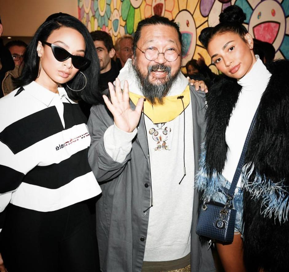 Takashi Murakami at Gagosian LA show opening. Image courtesy of Takashi Murakami's Instagram