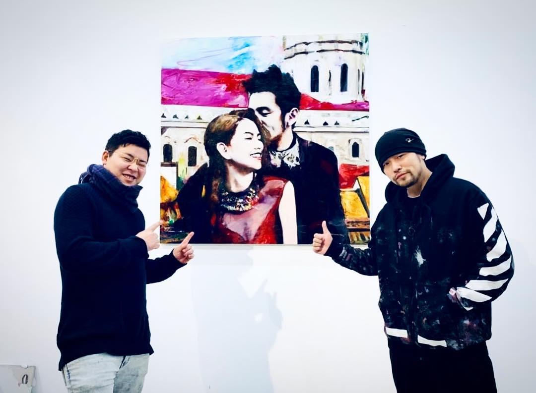 Ida with Jay Chou, image courtesy of the  artist studio.