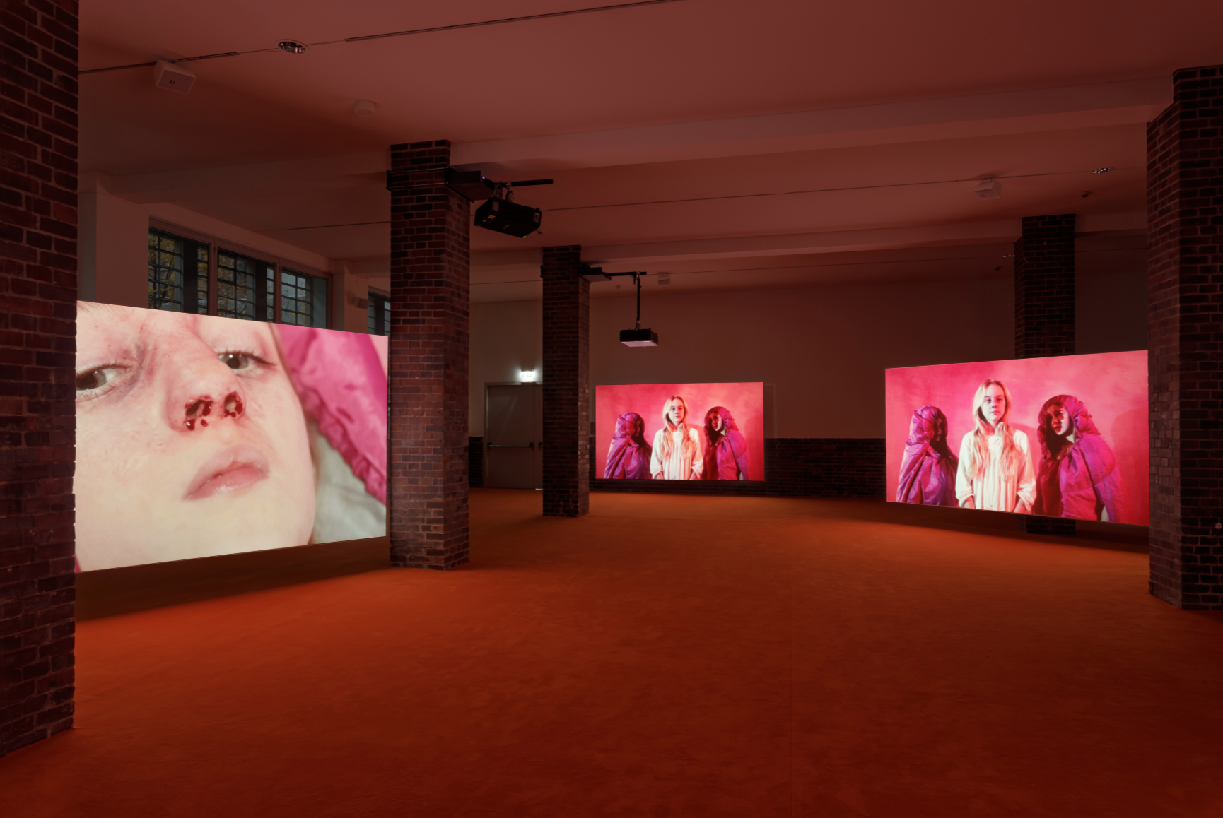 Marianna Simnett,  Blood In My Milk , 2018. Exhibition view: MMK. Photo: Maris Hutchinson / EPW Studio