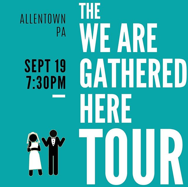 Next stop on the WAGH Tour... Allentown!! . . We're coming to the stunning Nineteenth Street Theatre in two weeks. Purchase tickets now (only $10!) at the link in our bio or at bit.ly/gatheredhereallentown . . #indiefilm #allentown #allentownpa #wearegatheredhere #bisbylyeverafter #wedding #comedy #romcom #darkcomedy #womeninfilm