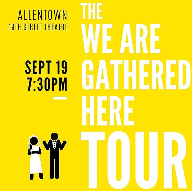 We're in ALLENTOWN tonight at the absolutely stunning 19th Street Theatre!! Tickets and info at bit.ly/gatheredhereallentown  See you at 7:30!! . . #wearegatheredhere #allentown #allentownpa #indiefilm #comedy #romcom #lehighvalley #marriage #womeninfilm #femalefilmmaker
