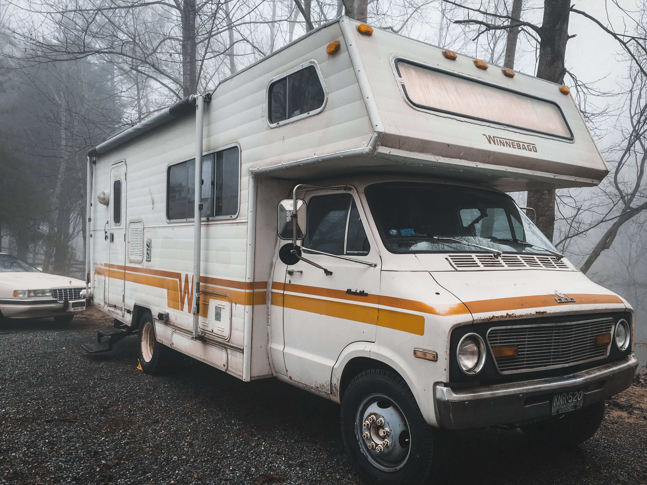 hillbilly hilton - We drive a 1977 Winnebago. We actually adopted the existing name. It's on the back of our home on wheels. It seems like someone tried to remove the name years ago (we can tell from all the scrape marks) and upon seeing their failure and ultimate despair, we decided to just leave it be. We also asked our friends and family on Facebook with a poll between Hillbilly Hilton and The Dog (which is on the front of the car) and the overwhelming majority voted on HH!