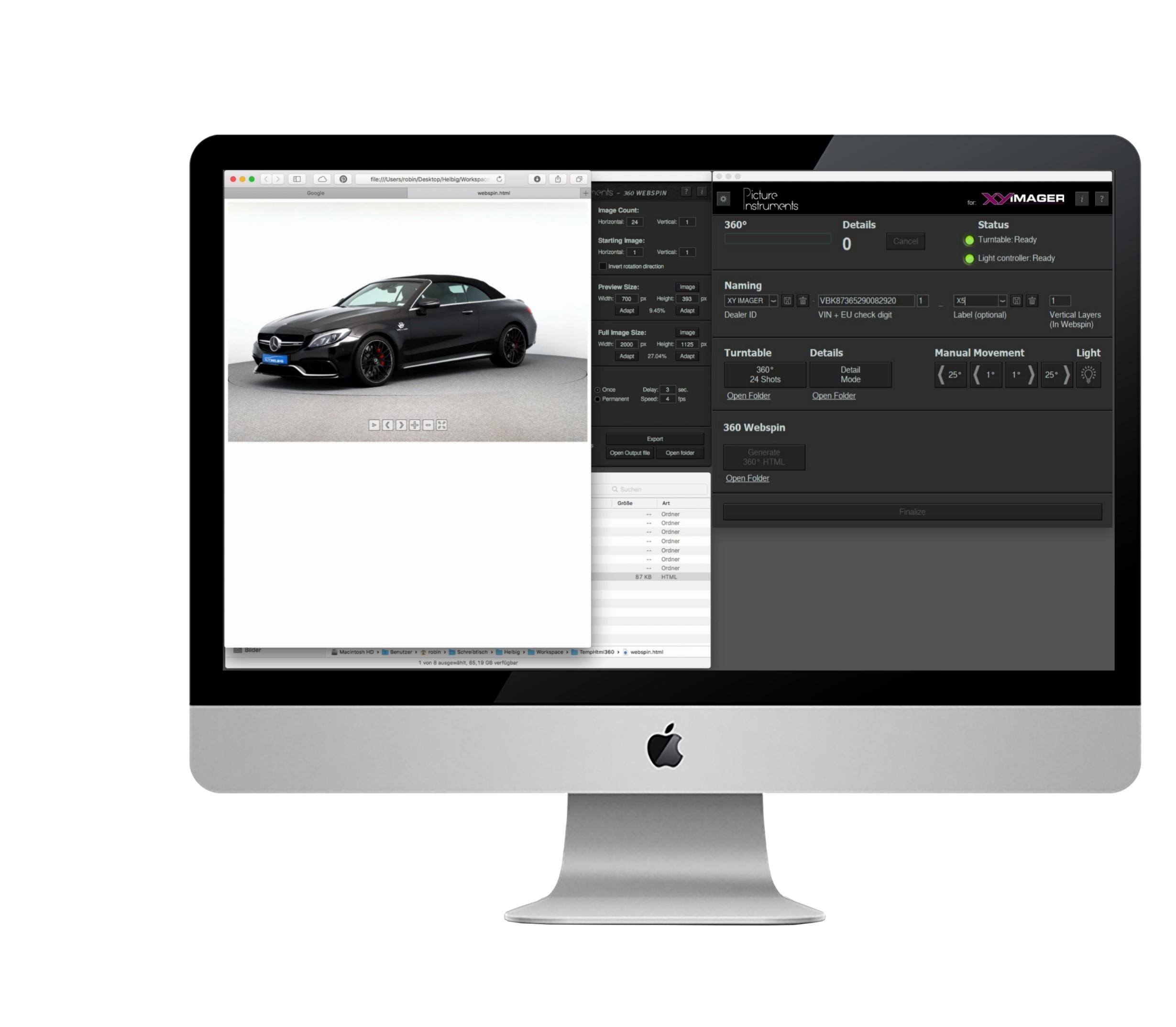 UNVERGLEICHLICH EINFACH - Das Autohaus oder auch das Fotografen-Team – von den Mitarbeitern hinter den Kulissen bis hin zu den Mitarbeitern auf der Verkaufsfläche – können von einem professionellen und einfachen Prozess profitieren. Mit unserem vollautomatischen Drehteller und der in der Bedienung einfachen Software erzielen Sie ein perfektes Ergebnis.