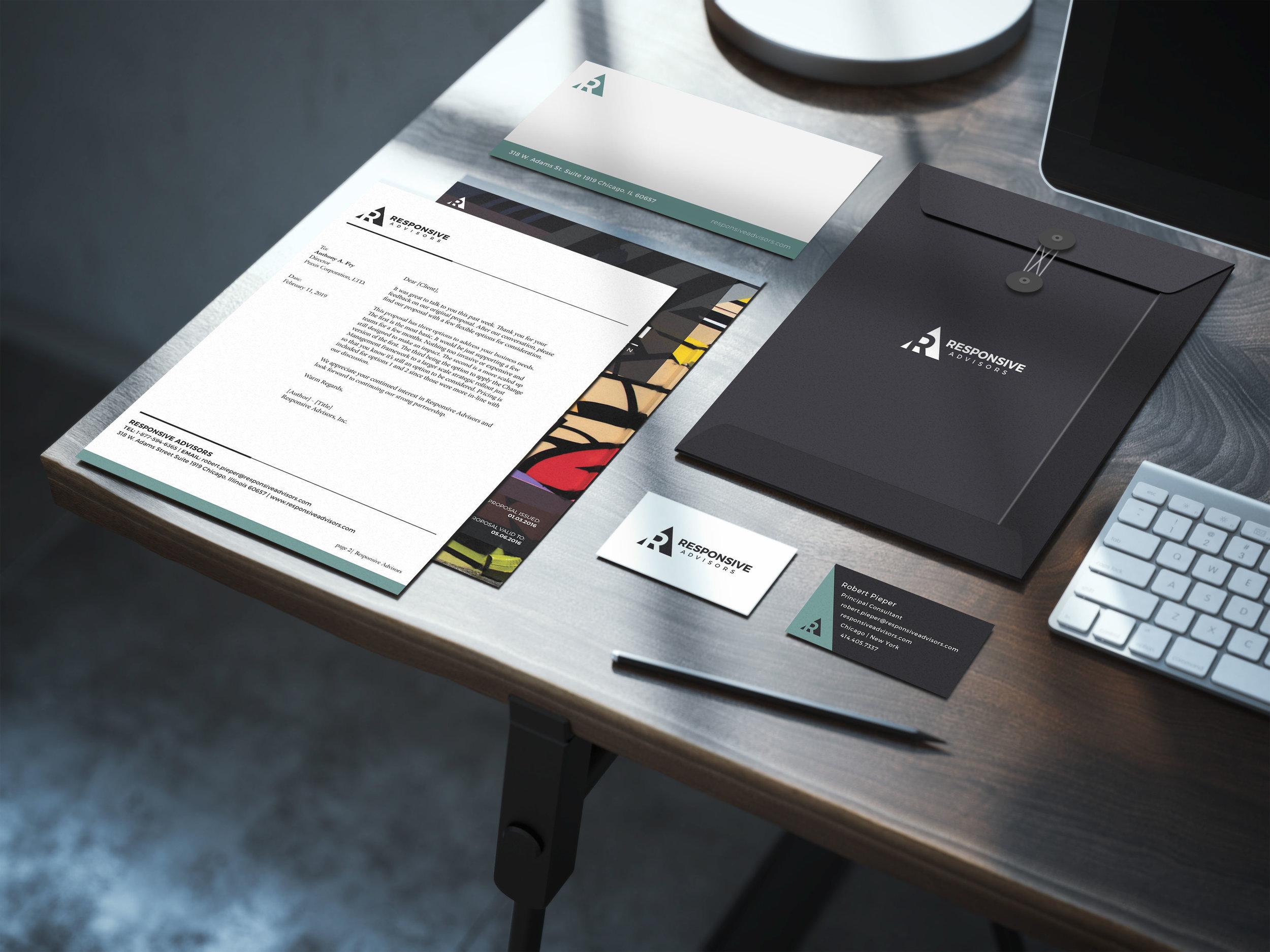 Responsive Advisors - Company Start-UpBrand Strategy | Logo & Branding Design | Website Design | Copywriting | Presentation Template Design
