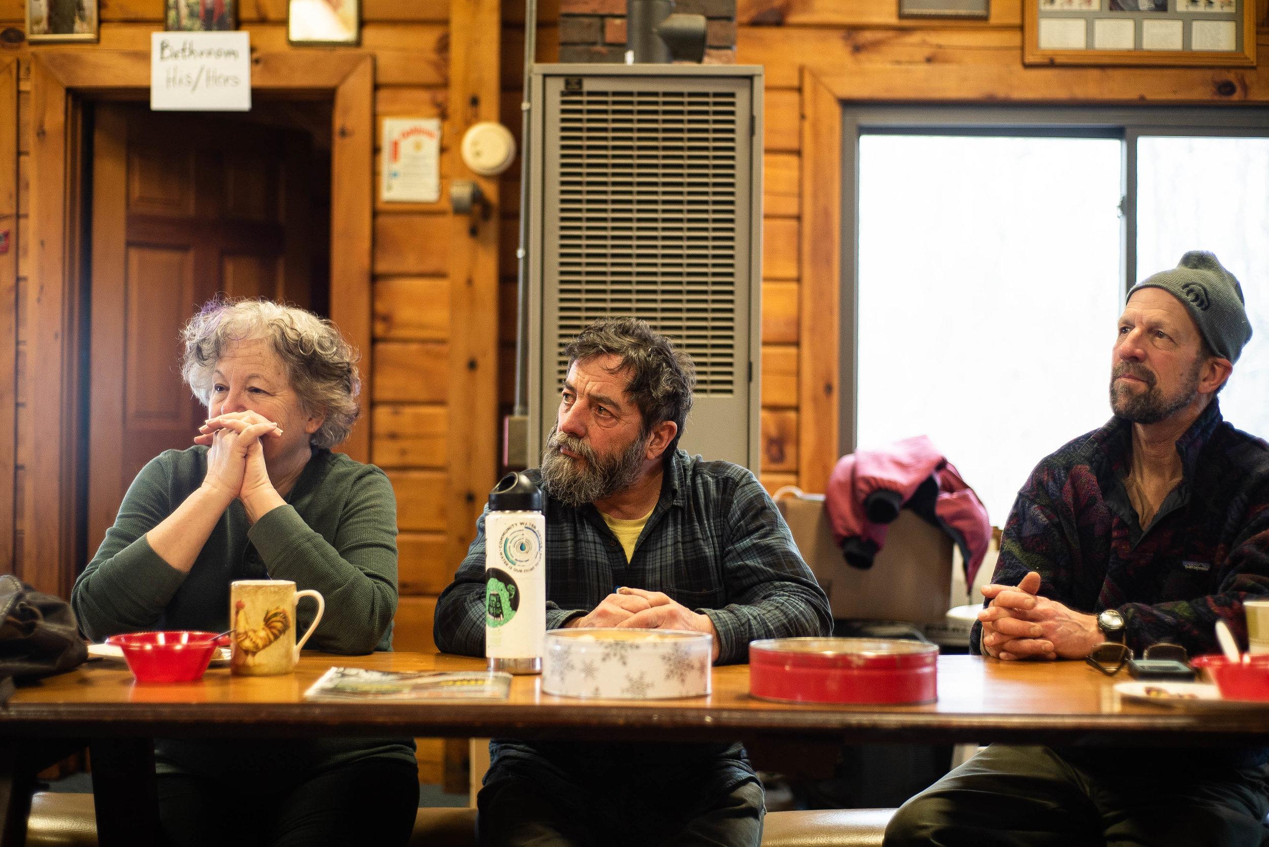 Joyce Green, Peter Crockett, Clayton Cole actively listening during the PRPT Annual Meeting. Photo: Chris Battaglia