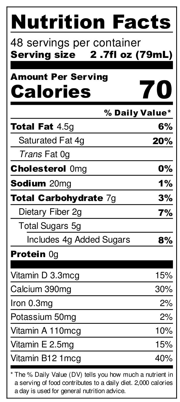 Coconut Milk (click to enlarge)
