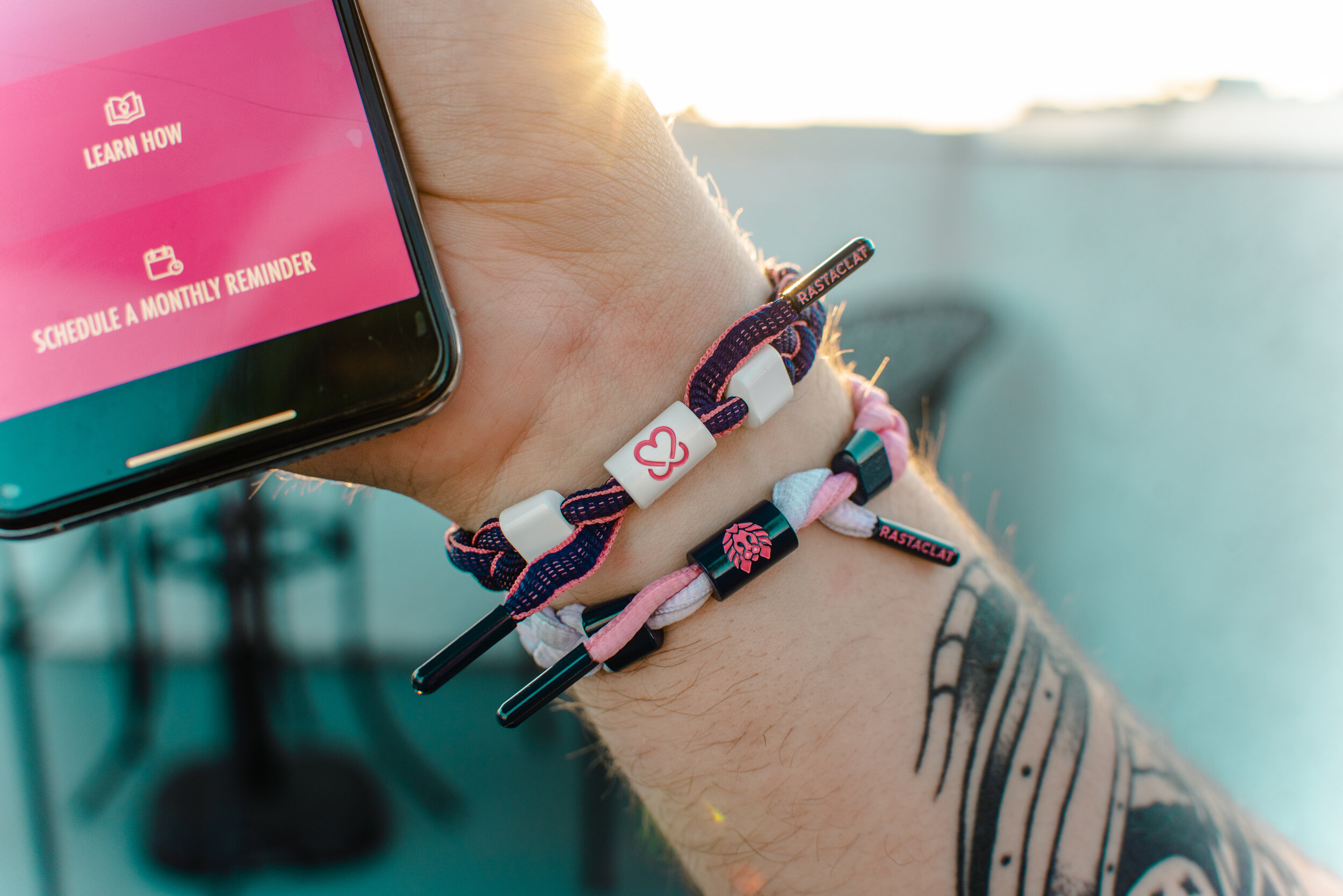 Rastaclat - $1 per Rastaclat x Keep A Breast collaboration bracelet sold benefits KAB!