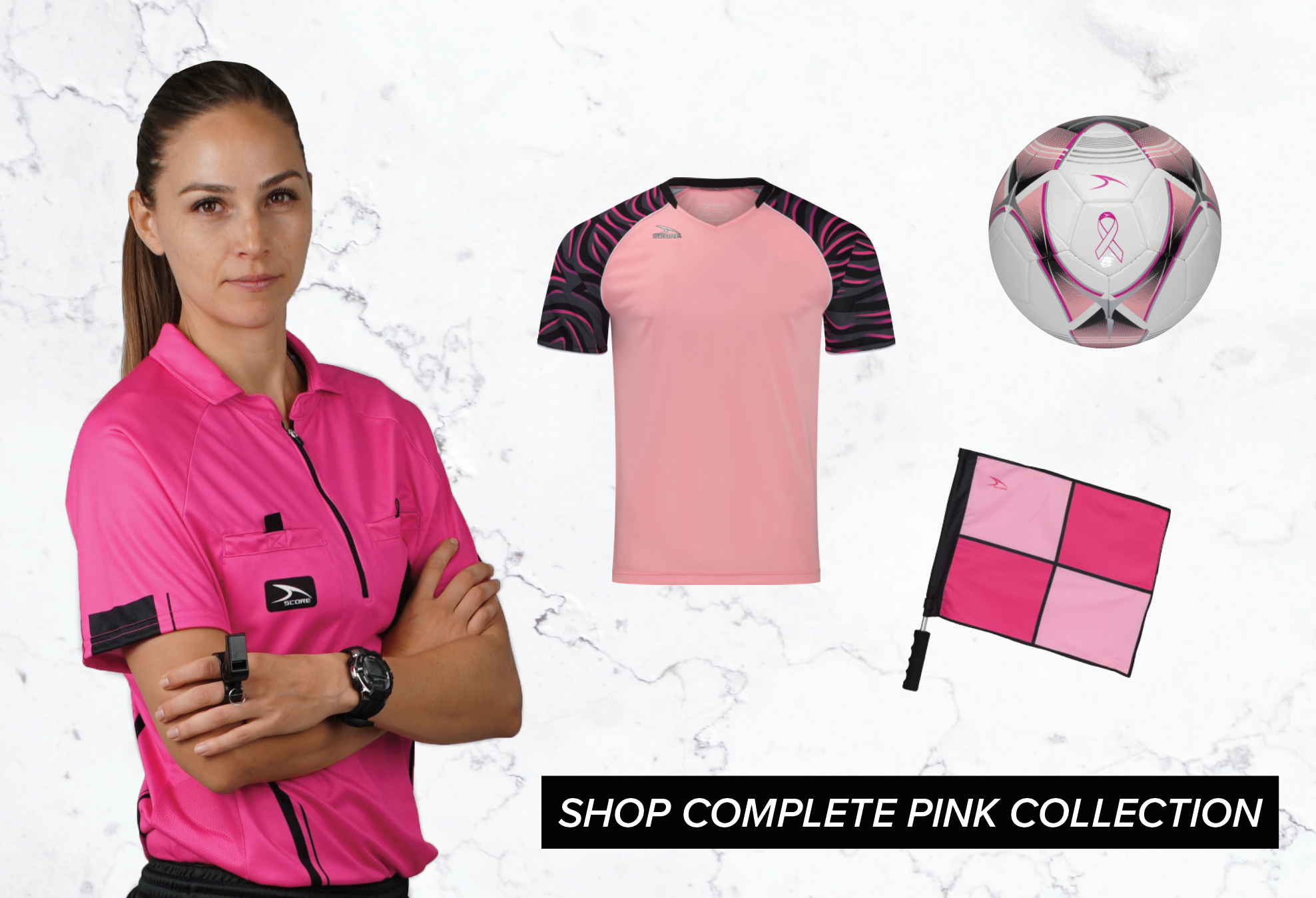SCORE Sports - 5% of proceeds from the SCORE Pink Collection collection will be donated to KAB during the month of October!