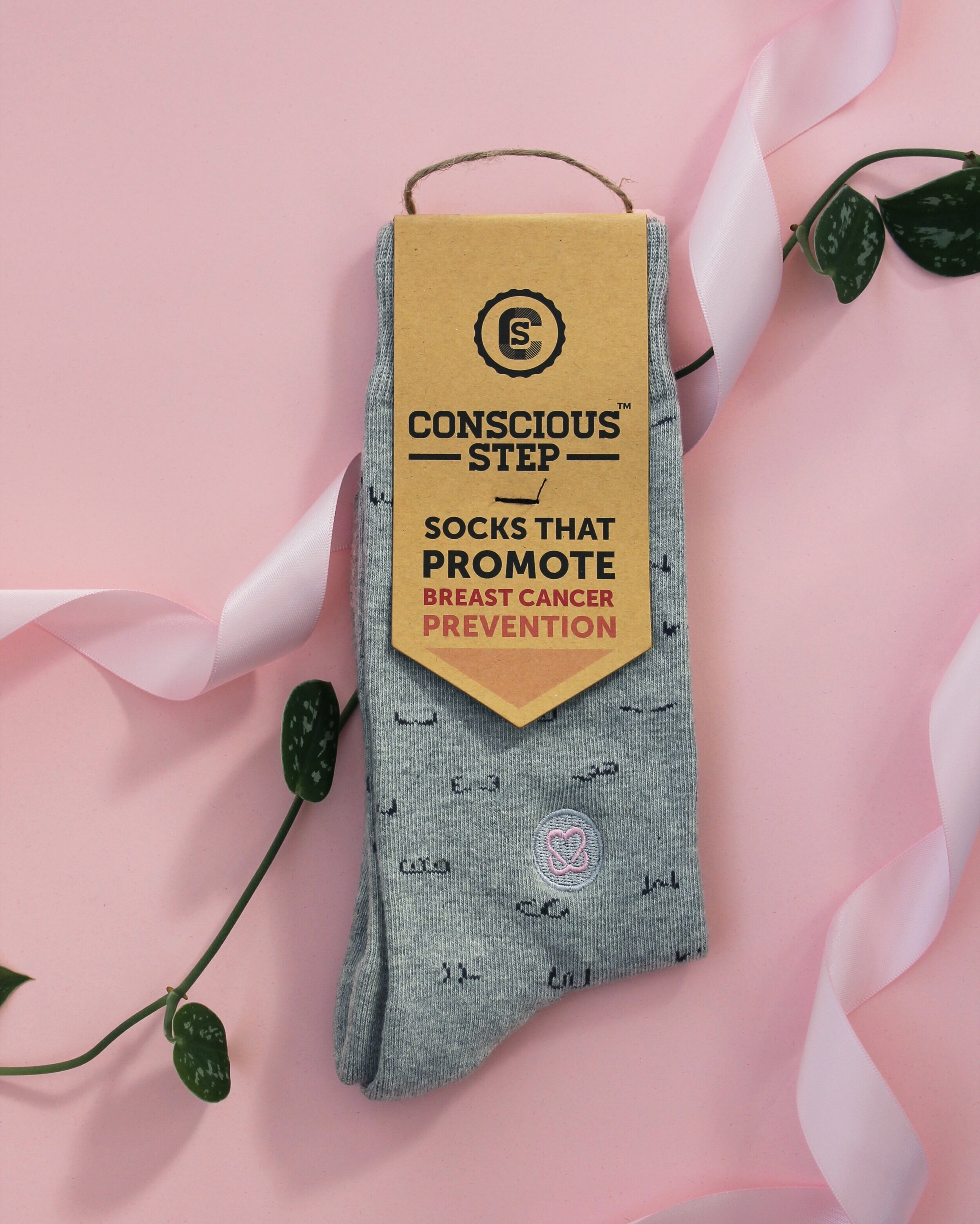Conscious Step - $1 per pair of the Socks That Promote Breast Cancer Prevention collection benefits KAB!