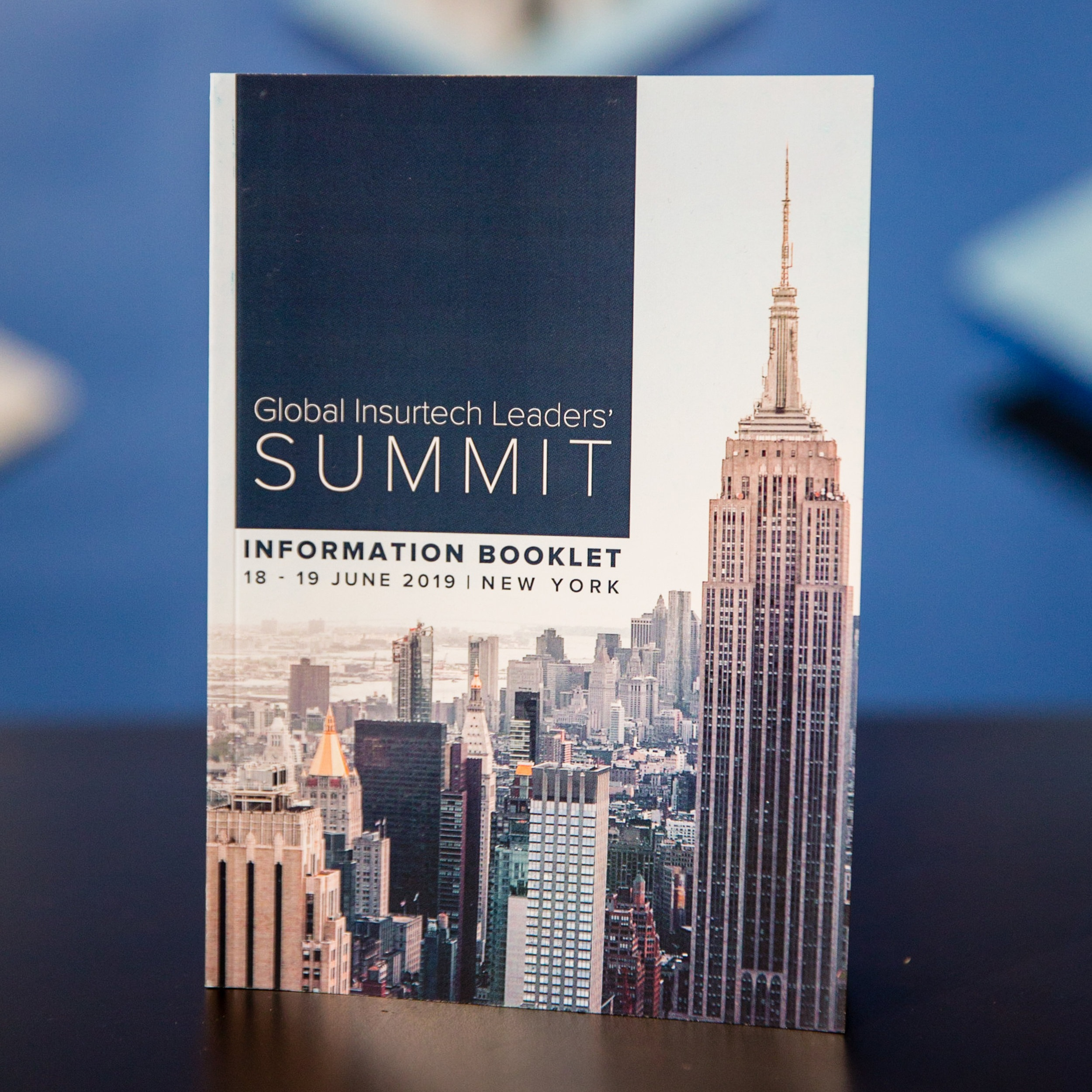 96-Page Booklet - At every Insurtech Insights event we produce a booklet with information on the panels, speakers, floor plans, sponsors, and more.This is hand-delivered to every single attendee alongside their badges.