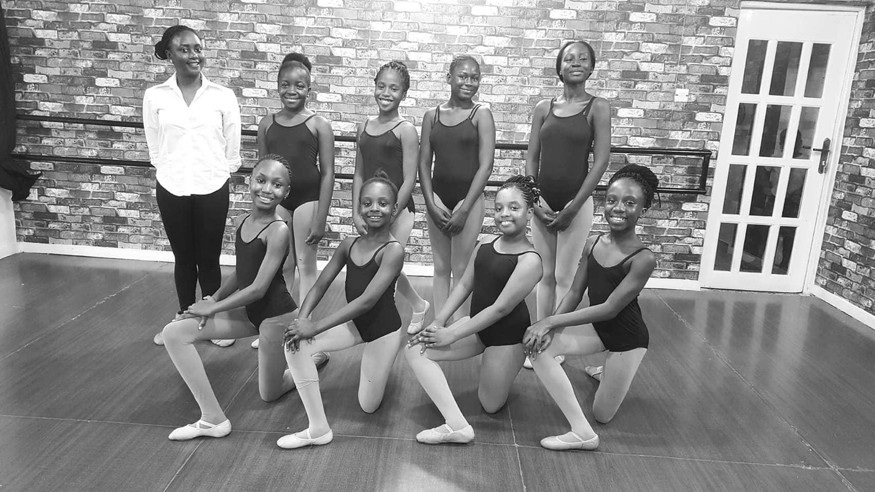Esther Oladipupo with students in Nigeria. Photo courtesy of Kingdom Ballet Company