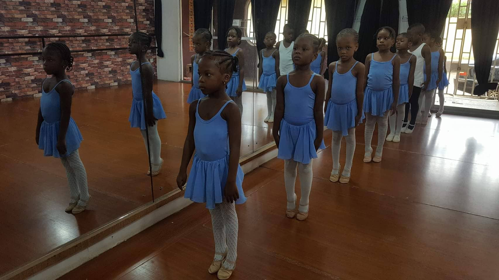 Young ballet students in Nigeria. Photo courtesy of Kingdom Ballet Company