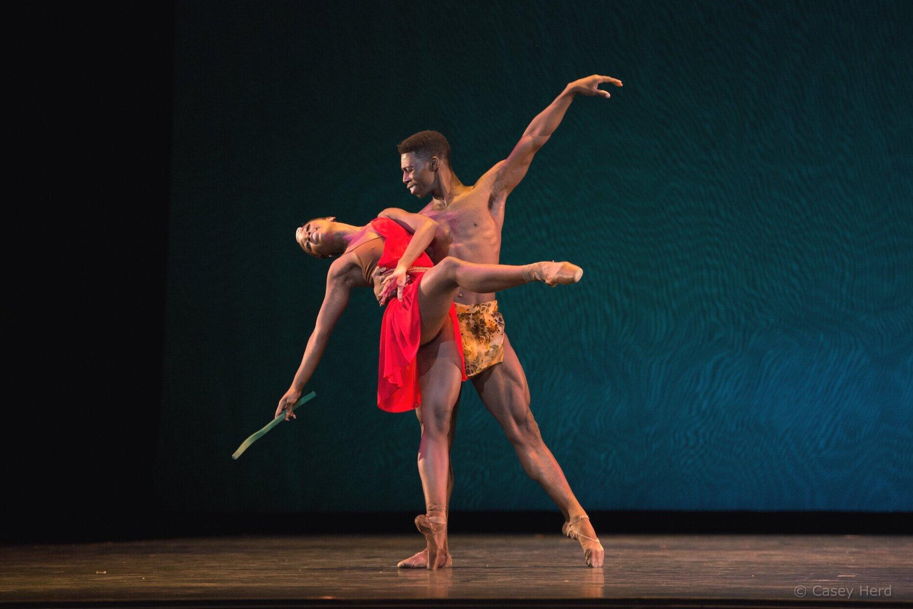 Michaela DePrince and Brooklyn Mack at Despertares Ballet Gala in Guadalajara, Mexico 2016
