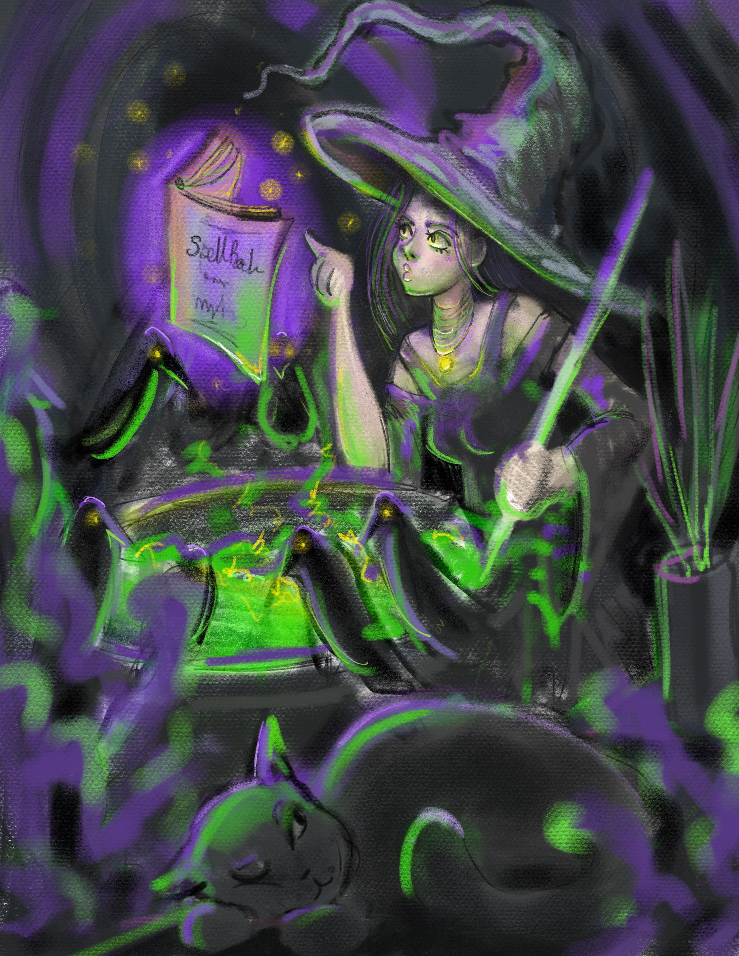 Sketch of  The Spell   See the full image  here