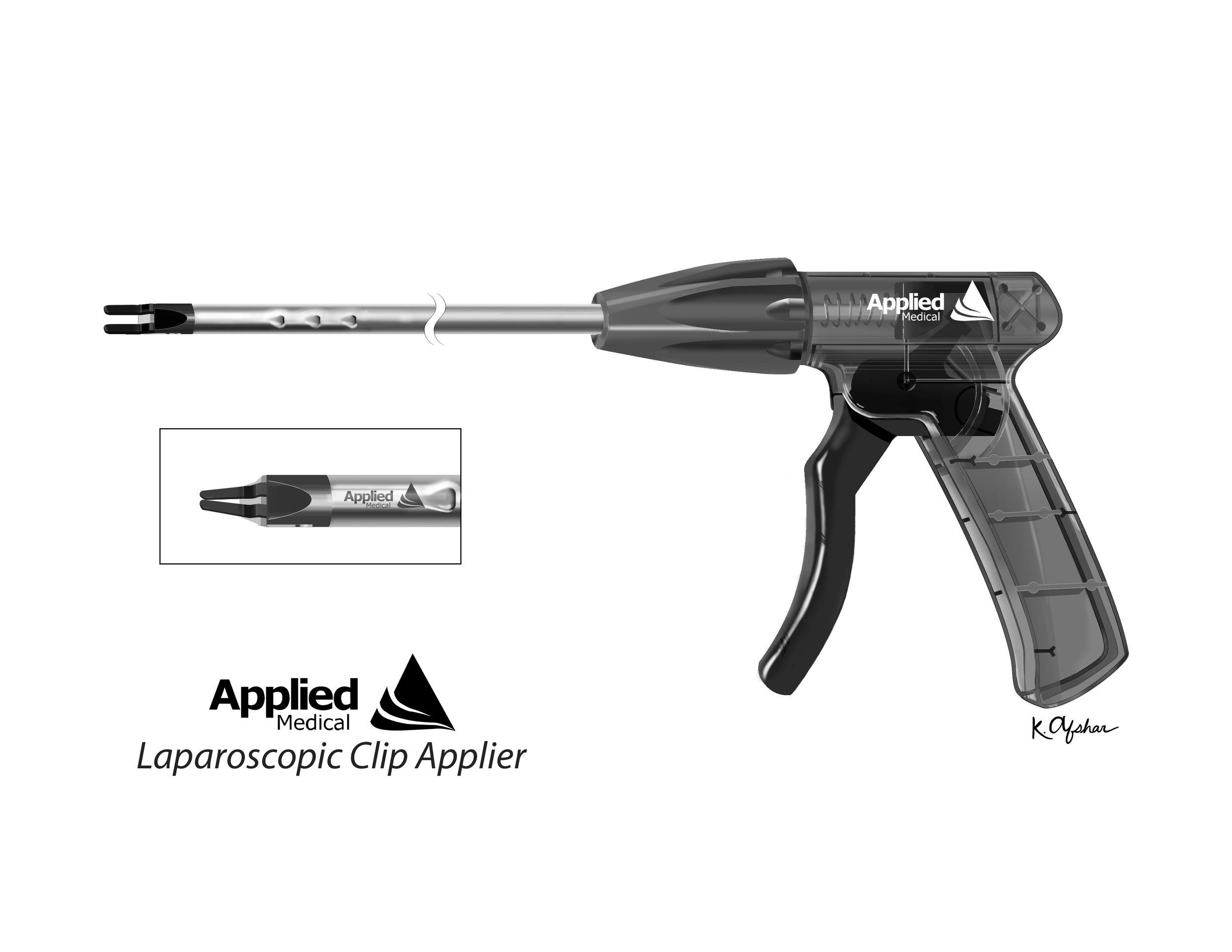 LAPAROSCOPIC CLIP APPLIER - Medium: Adobe Photoshop & IllustratorAudience: Device ManufacturersProject Description: