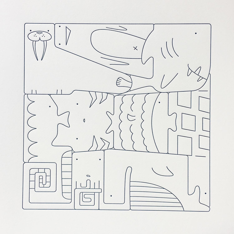 Square Puzzle- Ocean Animals