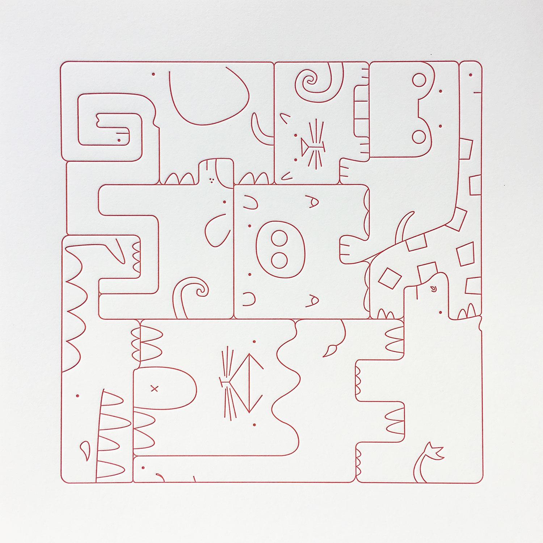 Square Puzzle- Land Animals