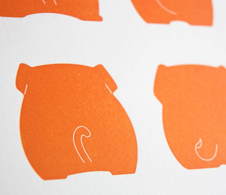 Orange Butts- detail