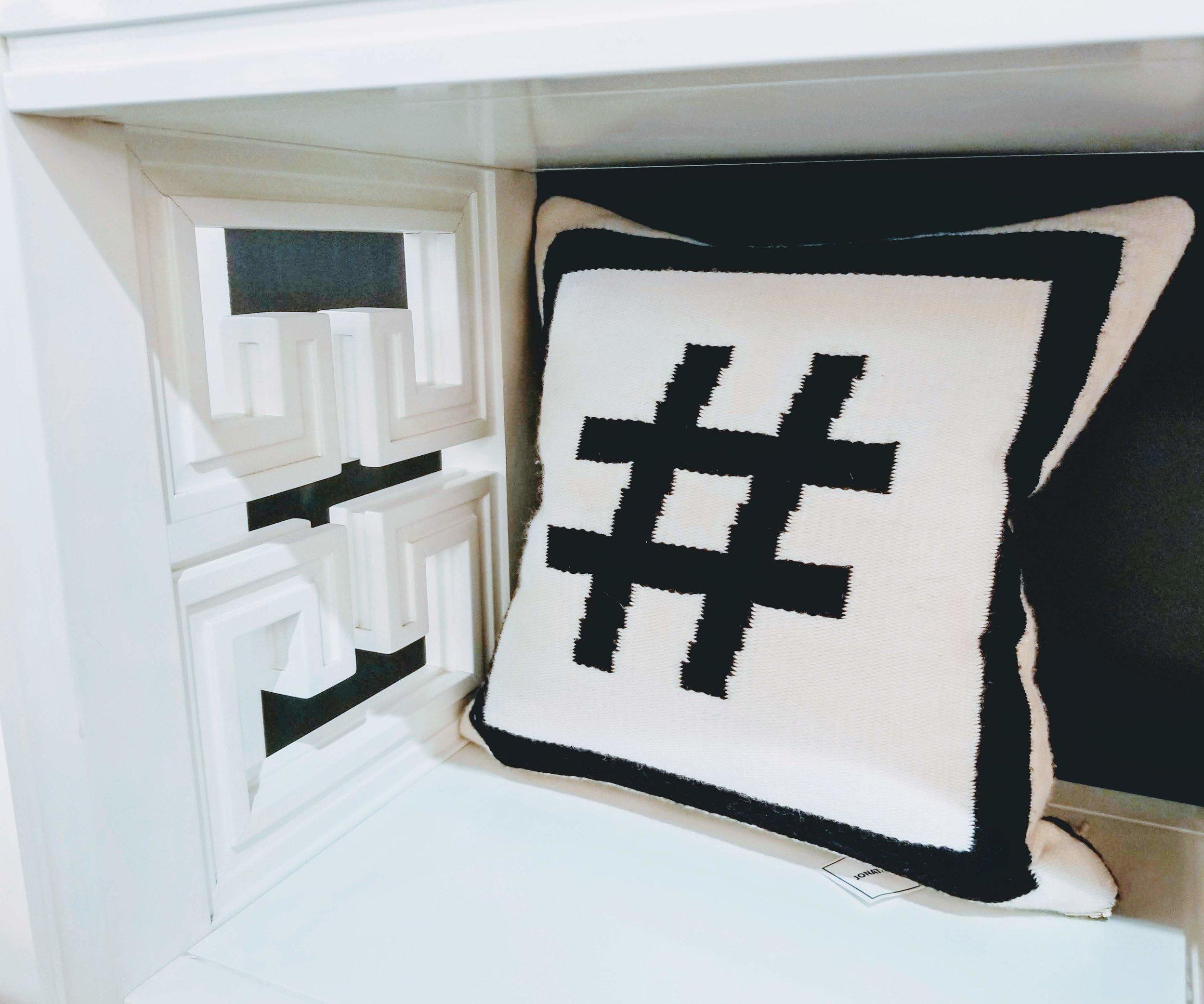 Hashtag pillow |    Jonathan Adler