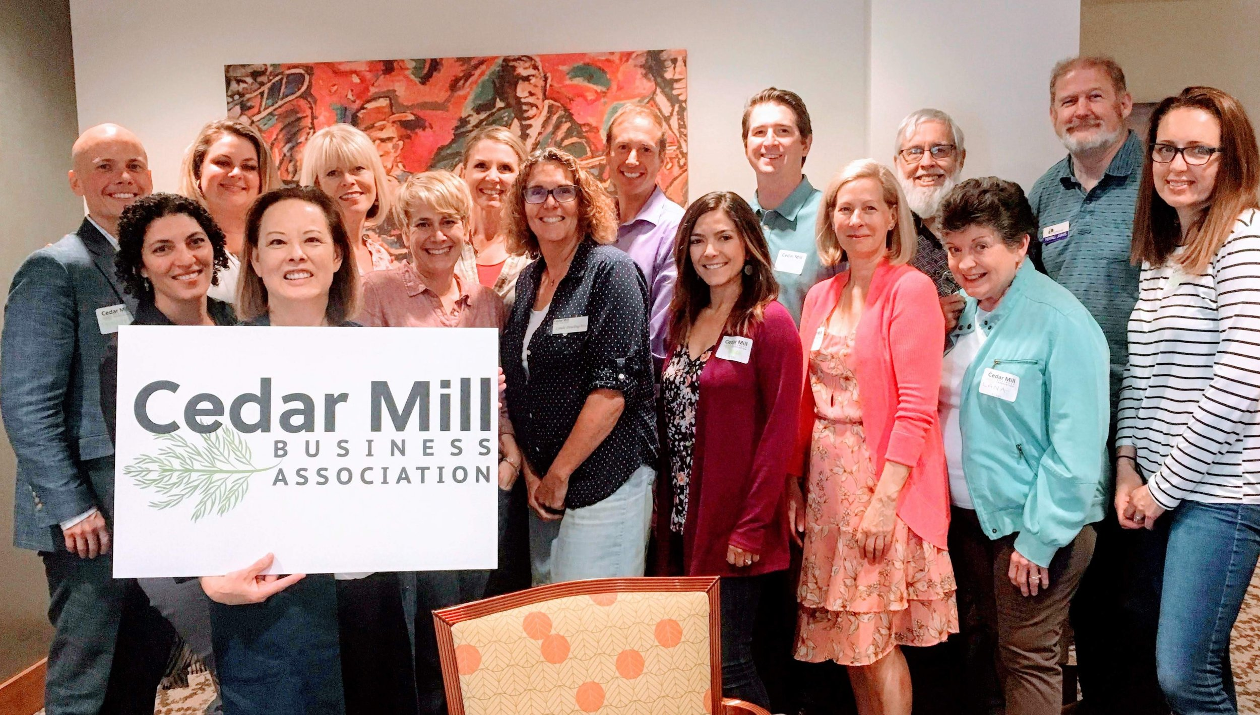 I joined the Cedar Mills Business Association 10 years ago and this is the current group of wonderful business people who support each other