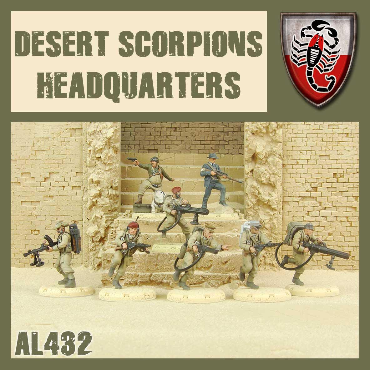 Greg & Izzy, Bullseye, Marek and a full Desert Scorpion Command Squad.
