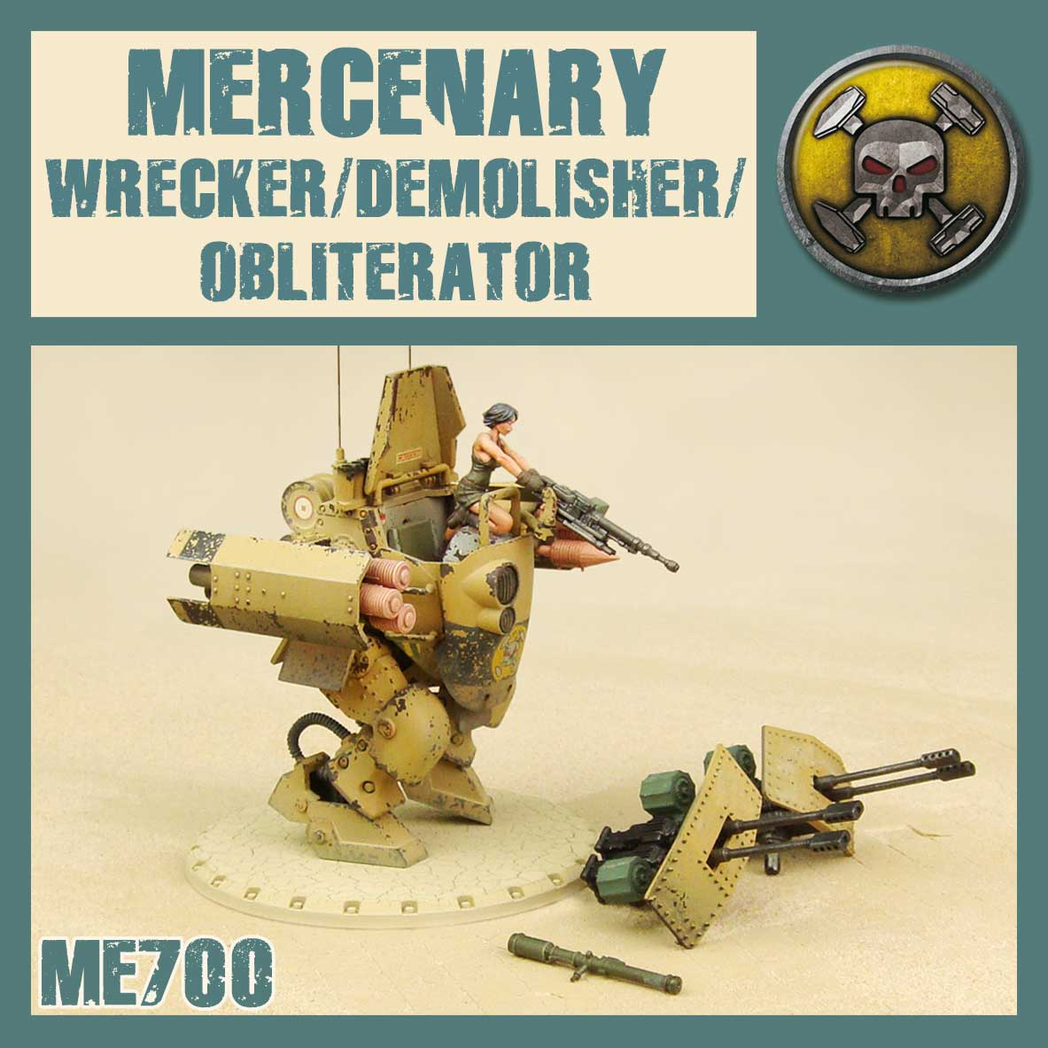 The Wrecker is the same as the one from the starter set, the Demolisher will be perfect with Luisa, releasing in the Mercs HQ Box this summer!