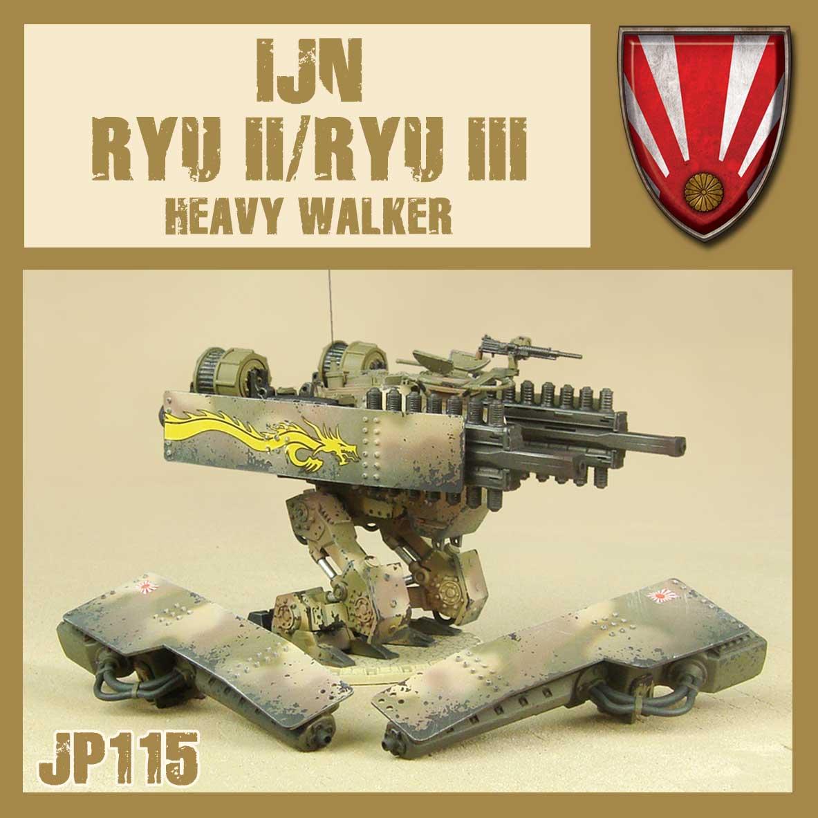 IJN first heavy walker with dual heavy lasers or dual railgun.