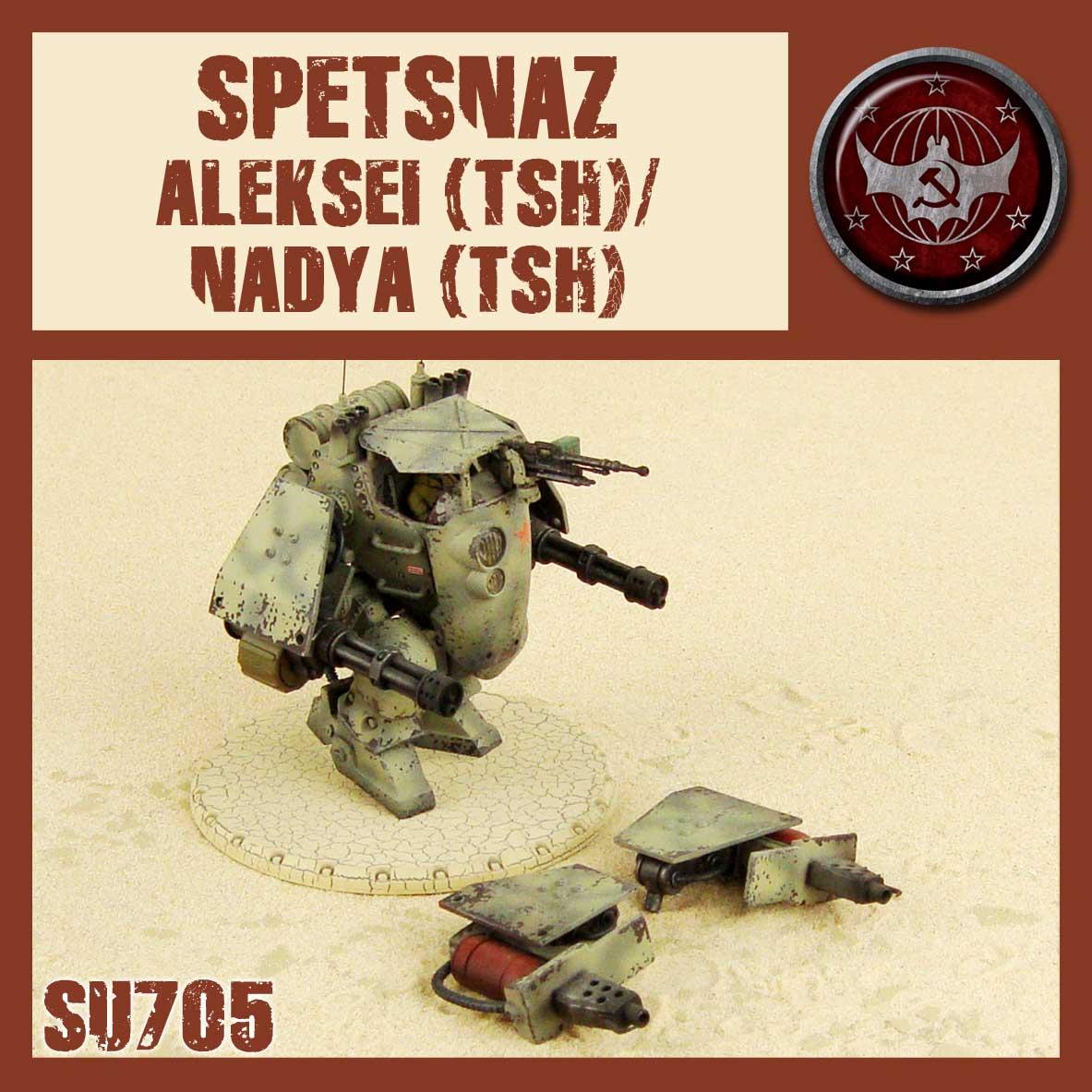 Spetsnaz medium walker with Dual gatling gun or Dual flamers. The Nadya TSH was never released before.