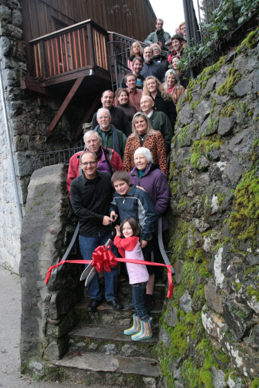 Ribbon Cutting at the stone house