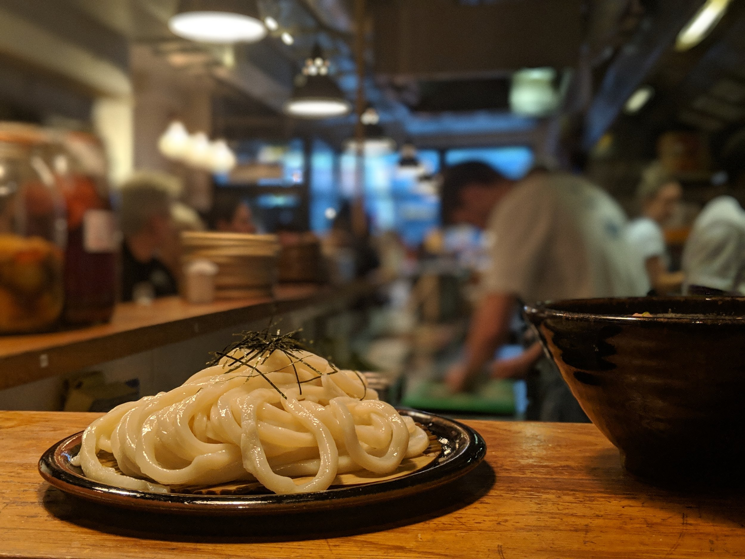 Cold udon noodles at Koya, Soho.