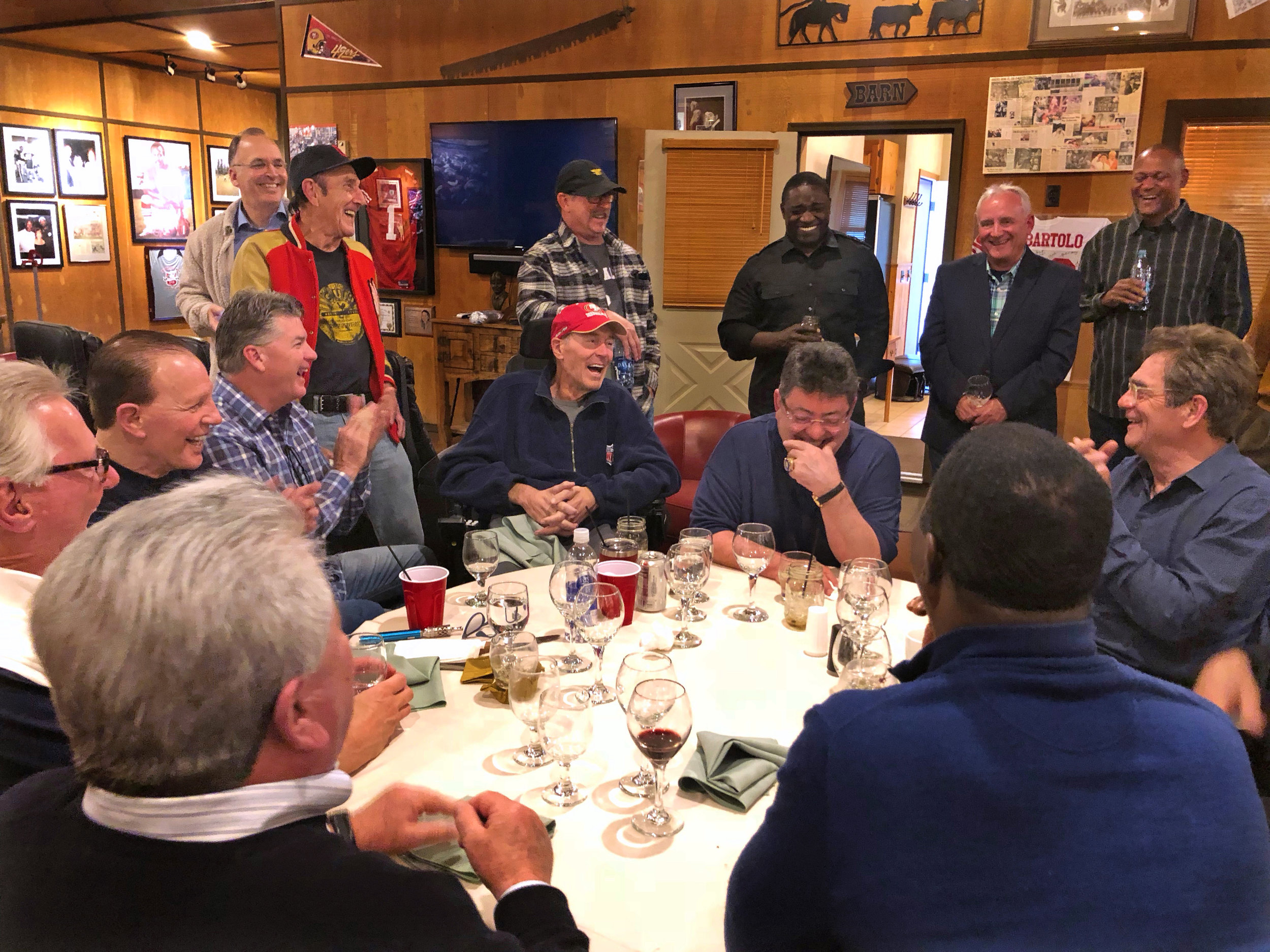 From The Catch to The Barn, DeBartolo throws two-day dream for Dwight Clark and 'family' - Eddie DeBartolo held a reunion on his ranch in Whitefish, Montana, for Dwight Clark, his friends, and former teammates.