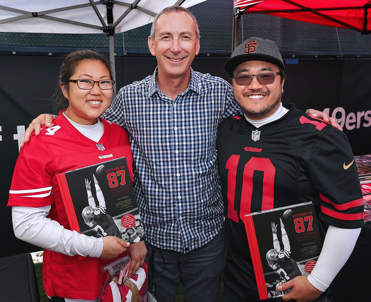 Fan Photos - 49er fans share pictures of themselves with their copies of Letters to 87.