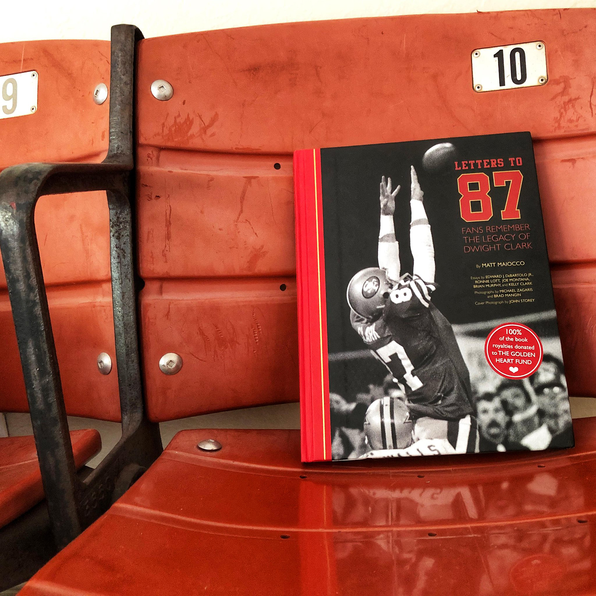 "@49ers - In honor of Dwight Clark Day, we're giving away 87 copies of ""Letters to 87"""