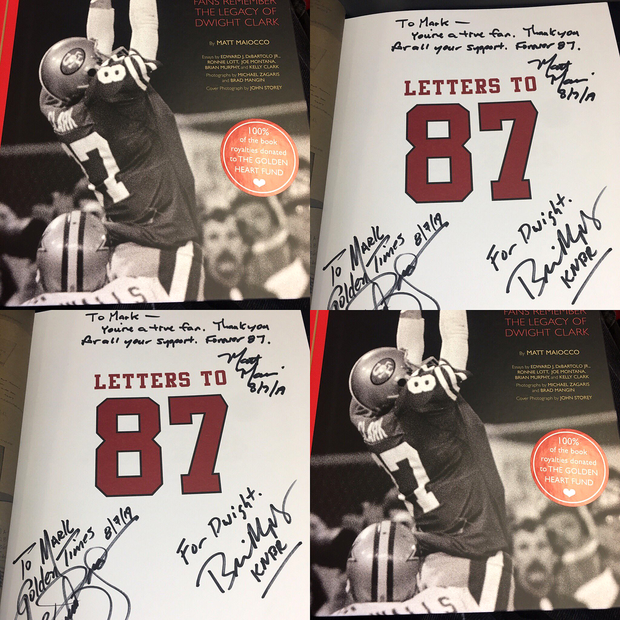 @49erMark49 - Proud to own this heart-felt book #LettersTo87.