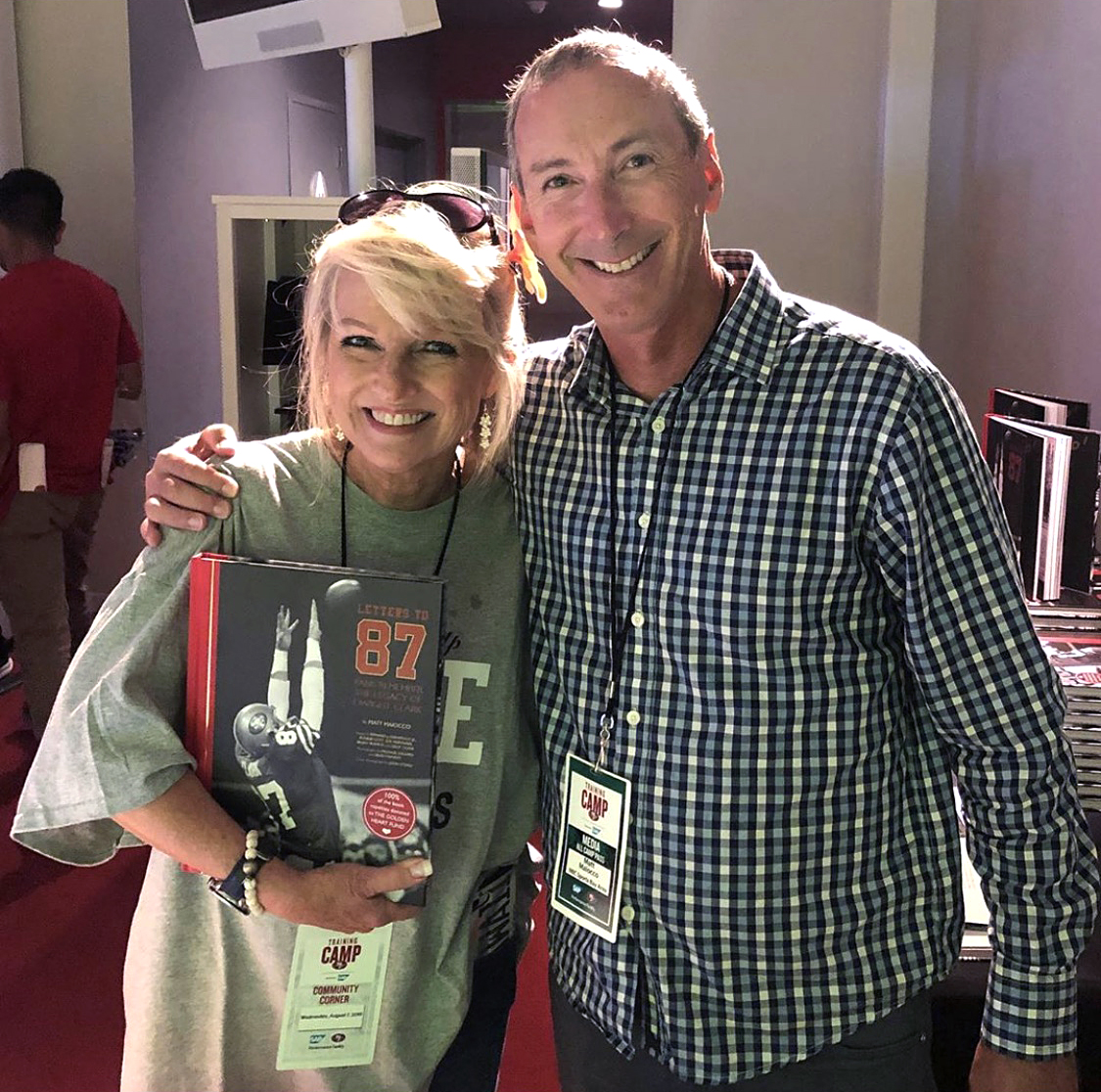 @MaioccoNBCS - So many great moments from the week around the release of #lettersto87. But this is No. 1. I met Lucy Wedemeyer. She is an amazing person.