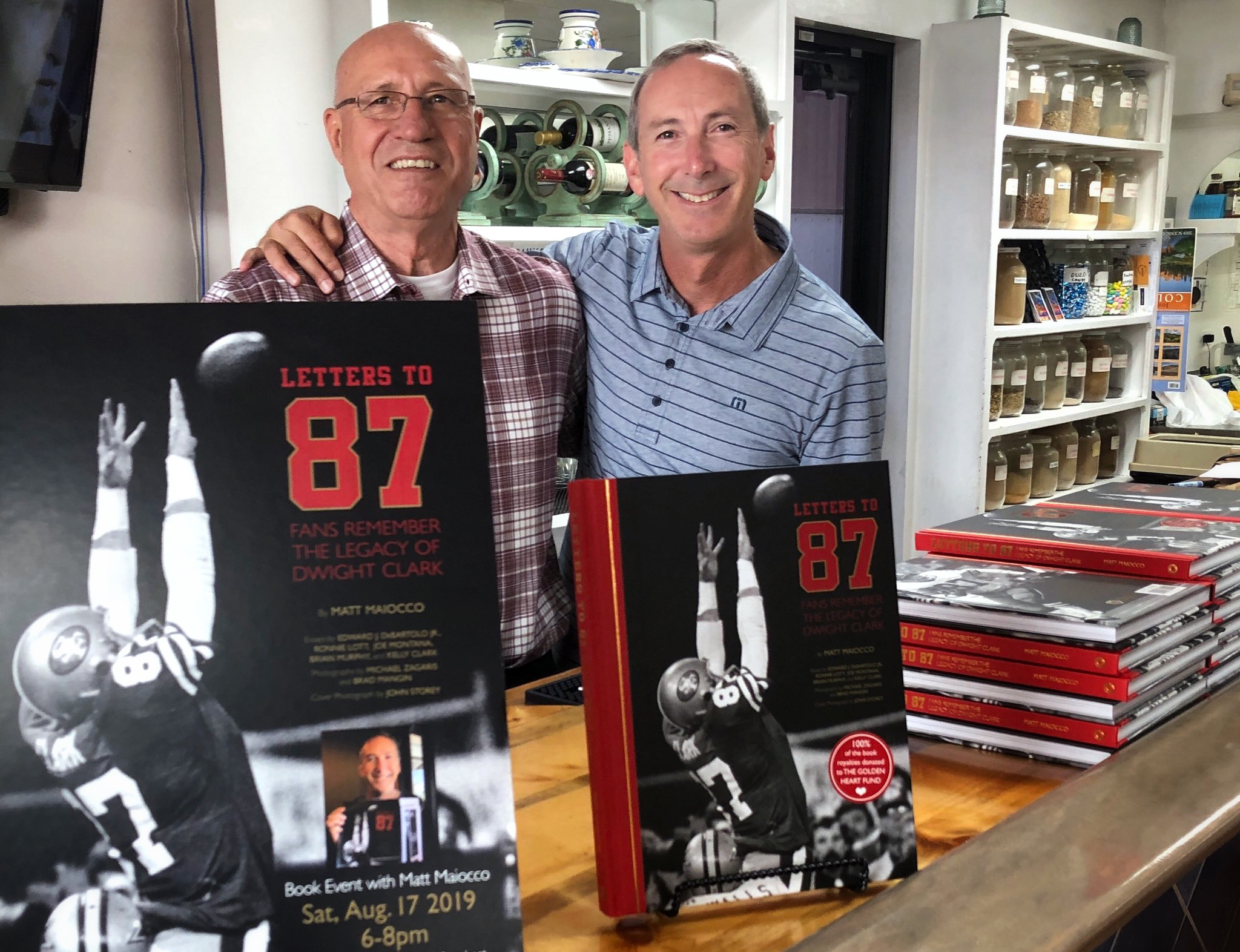 @MaioccoNBCS - A big thanks to my longtime friend, Dennis Georgatos, for hosting a book signing last night for a large contingent of Colorado Faithful.