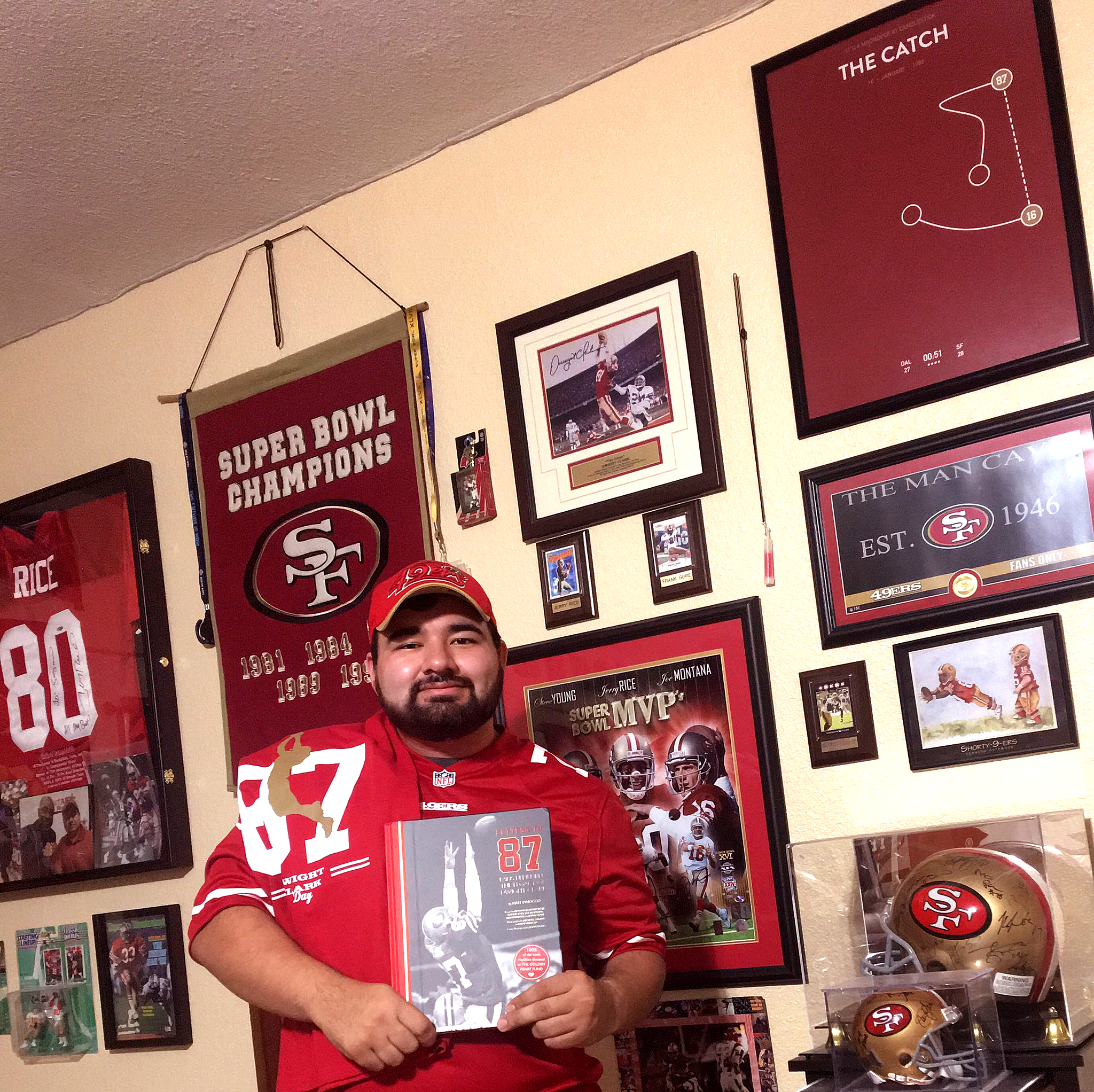 @LoganLopez77 - It's an honor to win a raffle from Dwight Clark Day! Thank you  @49ers   @MaioccoNBCS  for the amazing book!