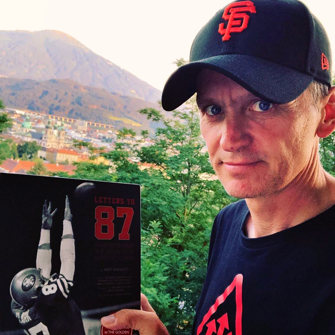 "@albanegger‬ - ""Letters to 87"" has arrived in Innsbruck, Austria. Great book. Great cause. #lettersto87 ‪@MaioccoCSN‬ ‪@49ers‬ #49ersfaithful @ Innsbruck, Austria."