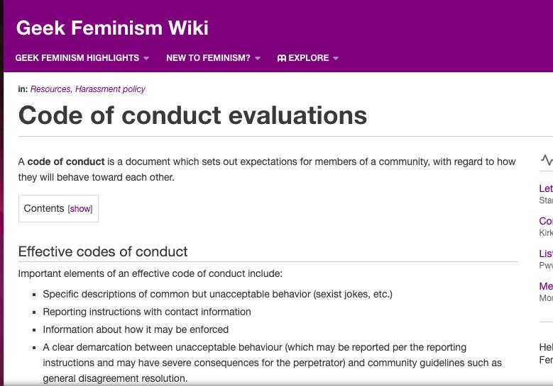 Geek Feminism's WIki